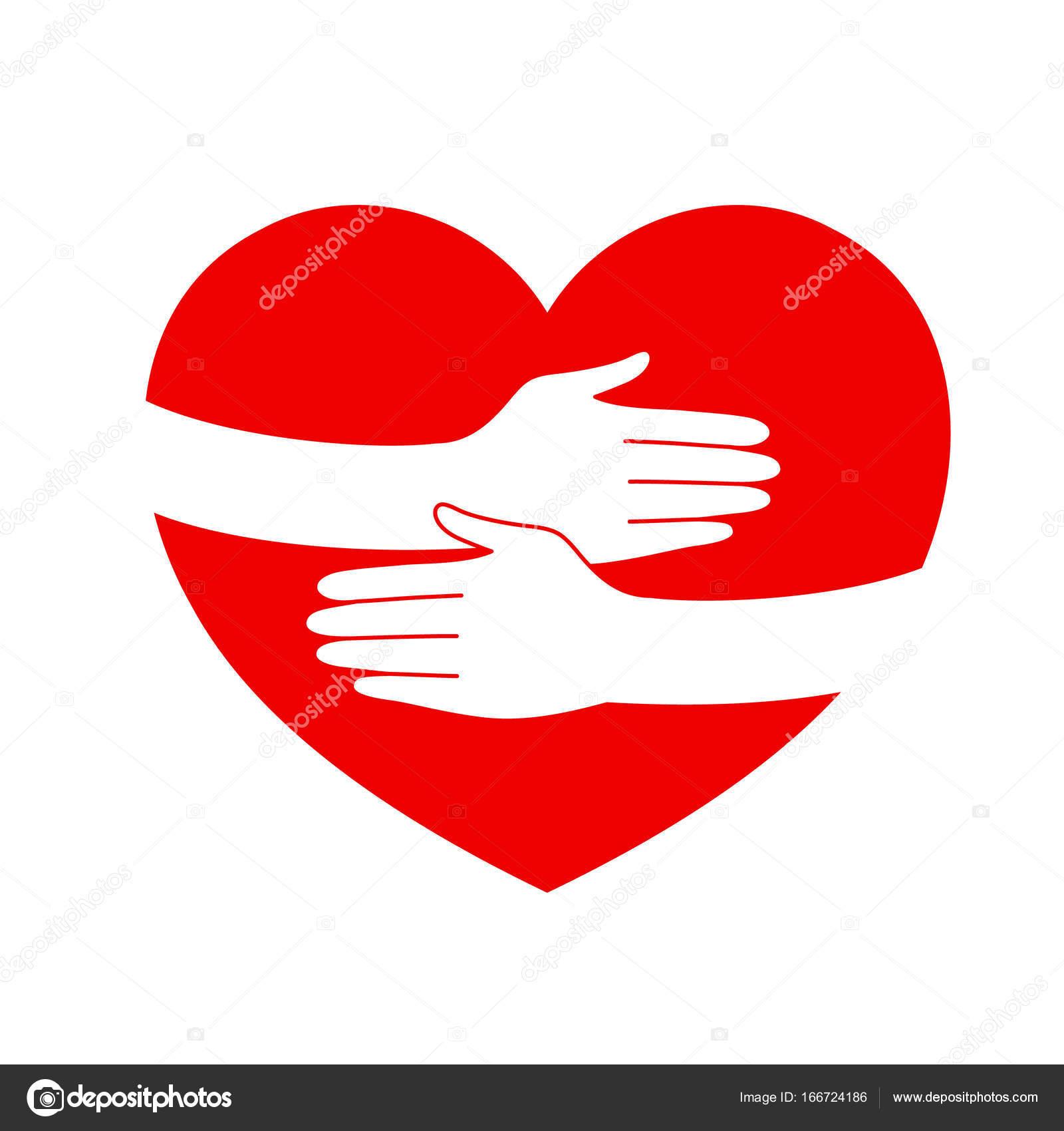 Abbraccio A Mano A Forma Di Cuore Vettoriali Stock Wowow 166724186