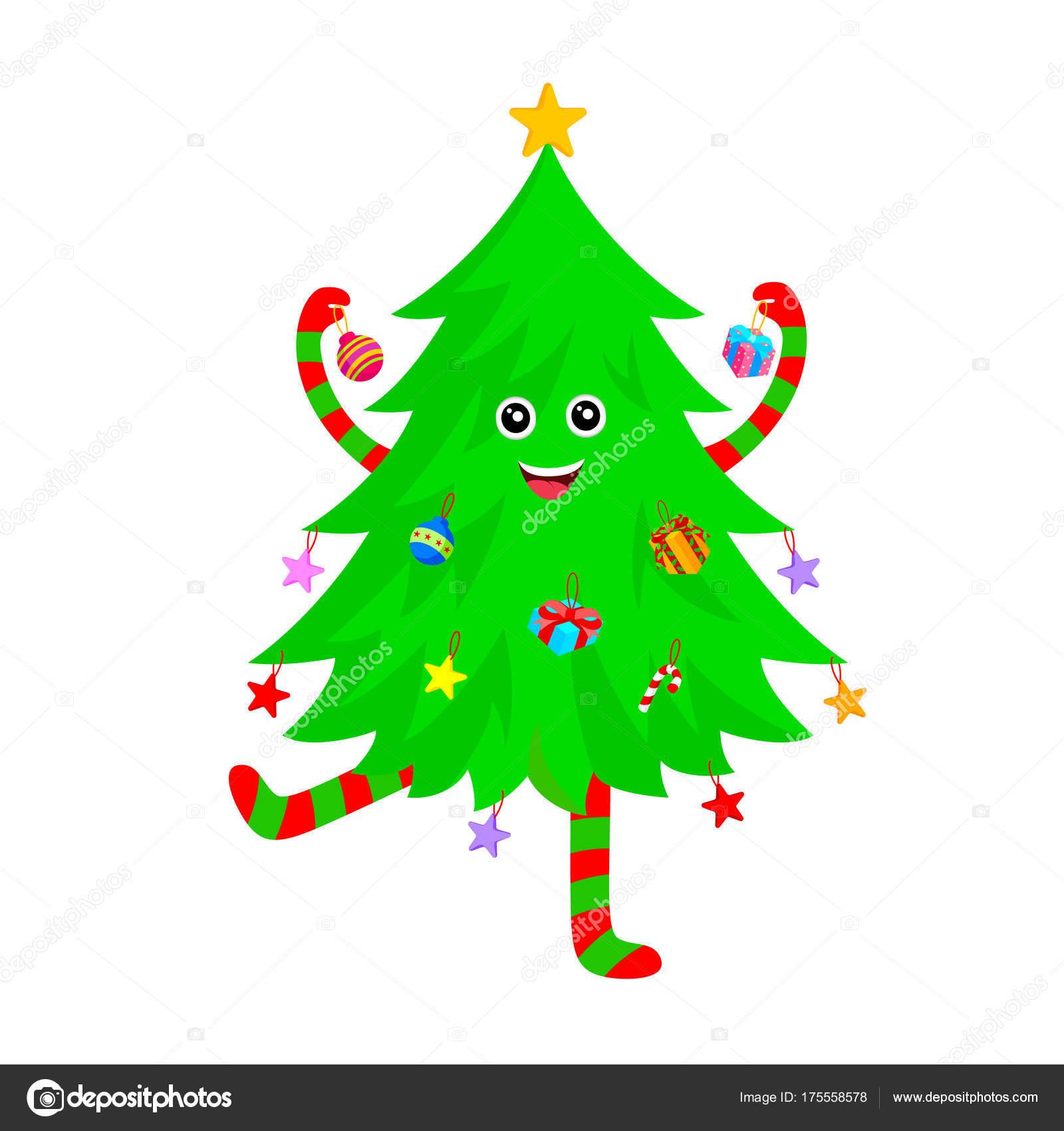 Imagenes Arboles De Navidad Diseno Personajes Dibujos Animados - Arbol-navidad-diseo