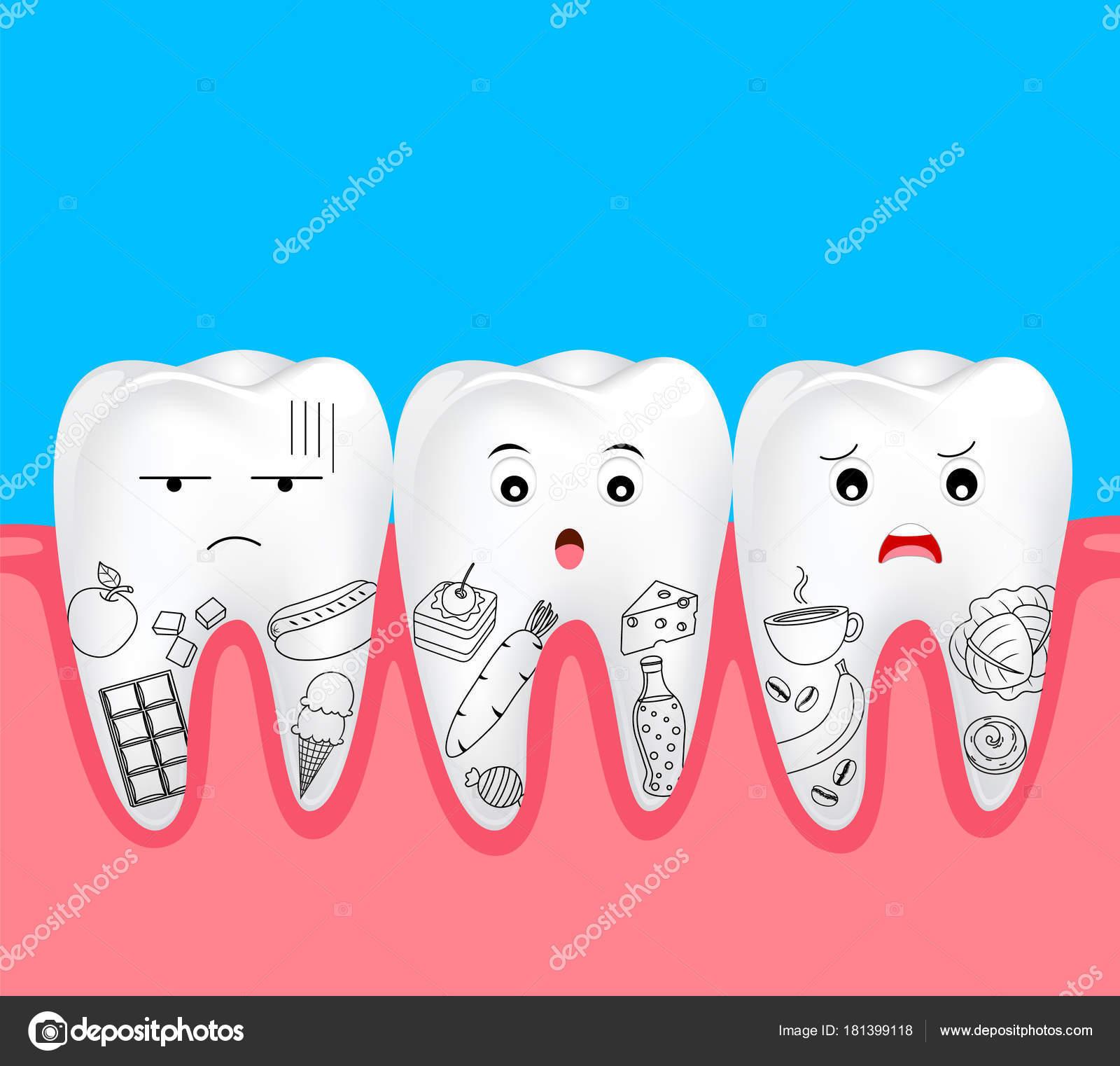 Drawings Cute Cartoon Of Food Cute Cartoon Tooth