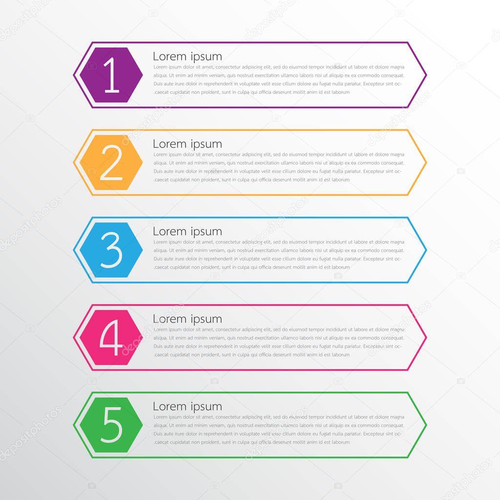 Vektor-Infografik-Vorlagen für detaillierte Berichte aus den ...