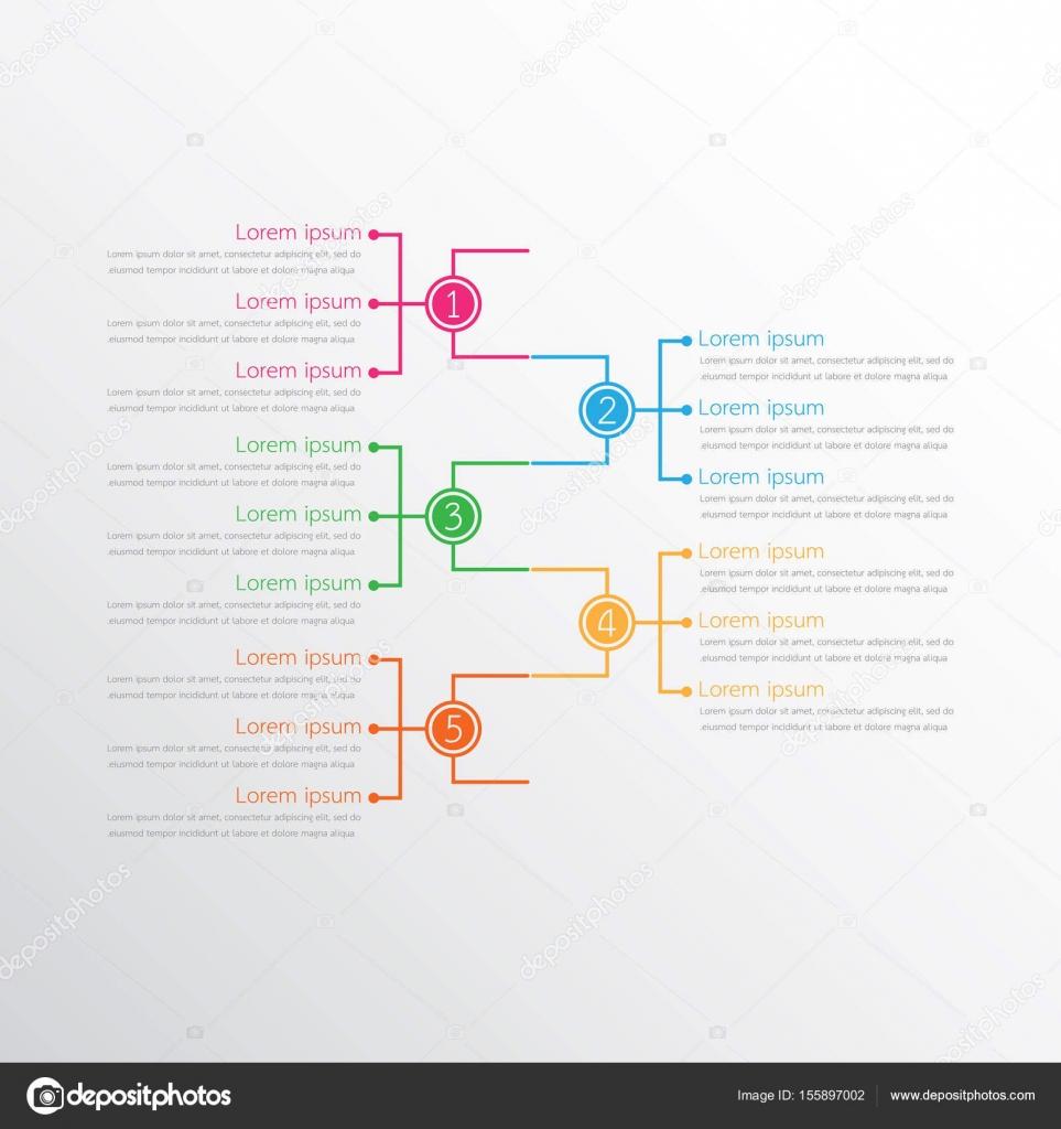 Vektor-Infografik-Vorlagen für detaillierte Berichte verwendet. Alle ...
