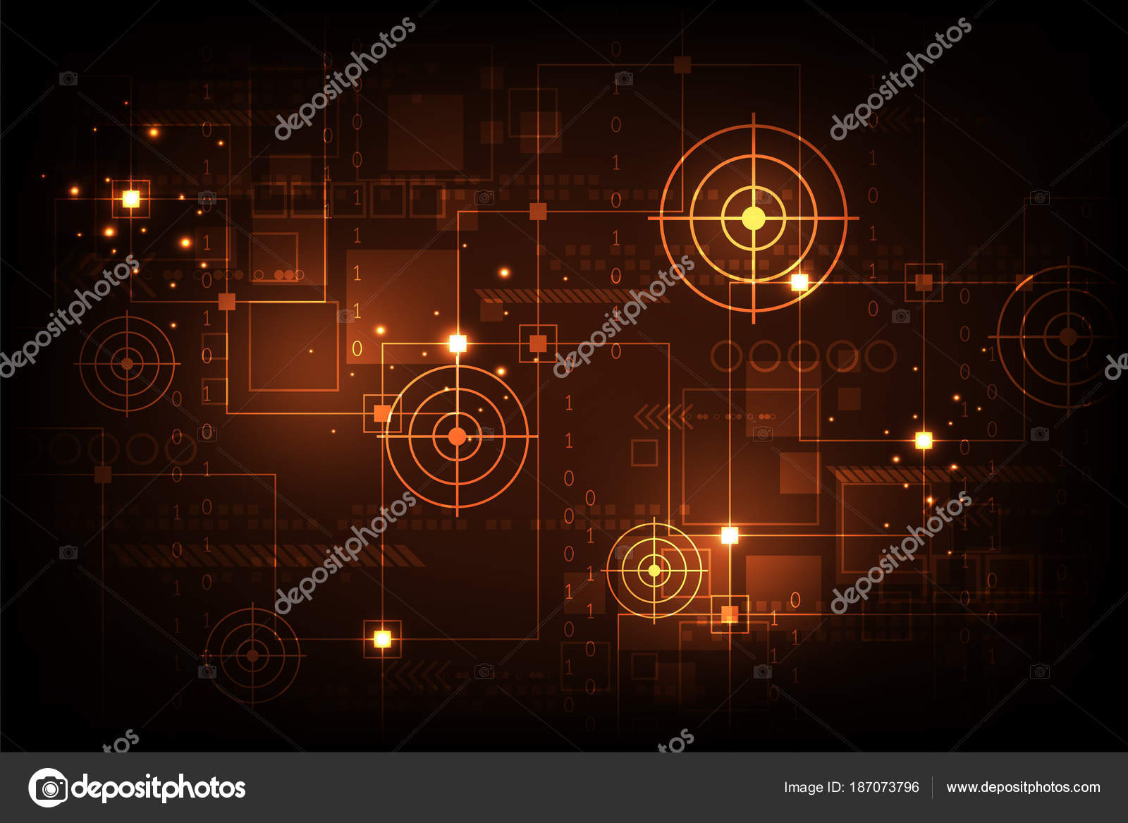Vector Technology Electronic Circuit Concept Stock Phai Symbols Photo
