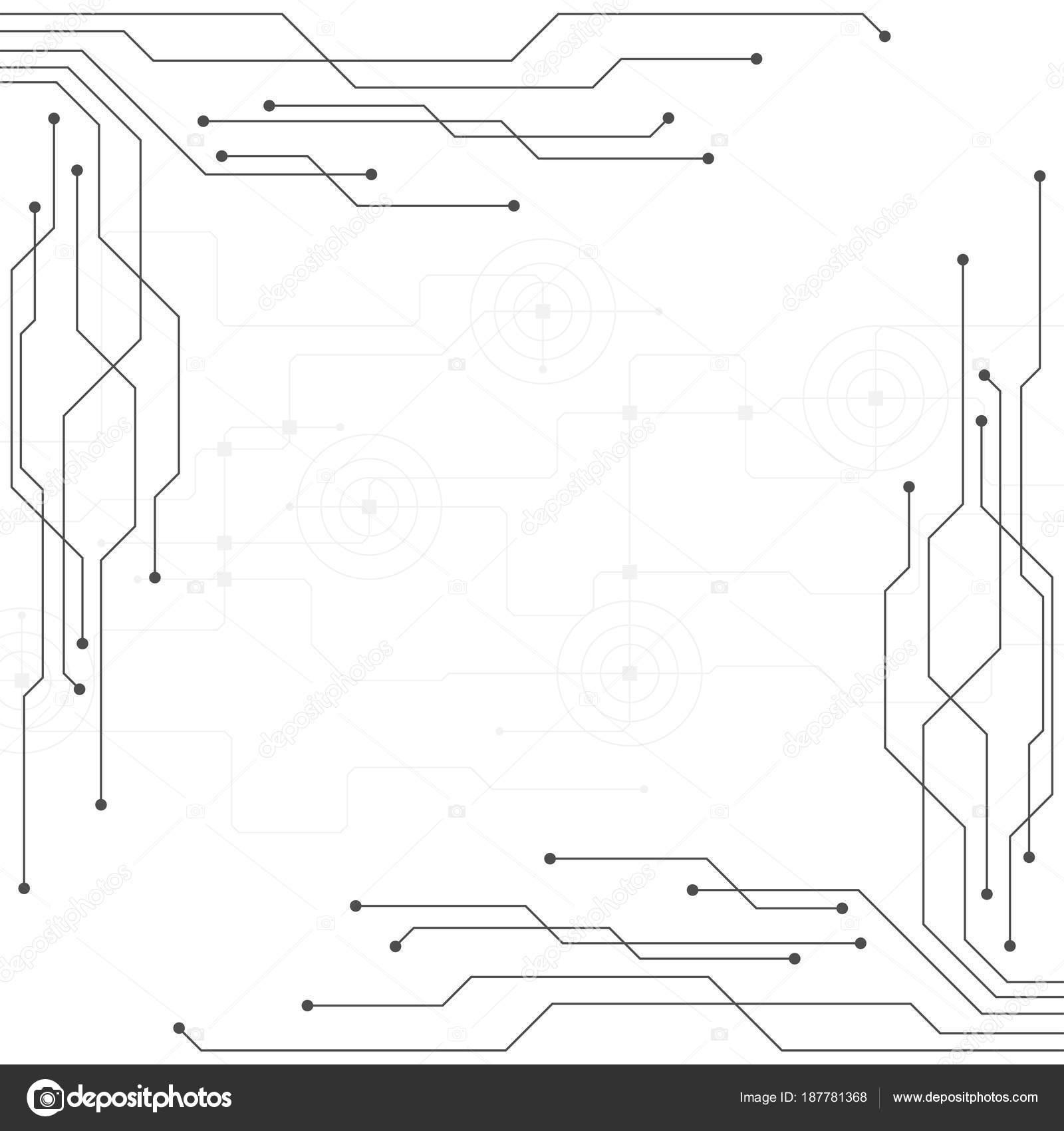 Vector Technology Electronic Circuit Concept Stock Phai Schematic Photos