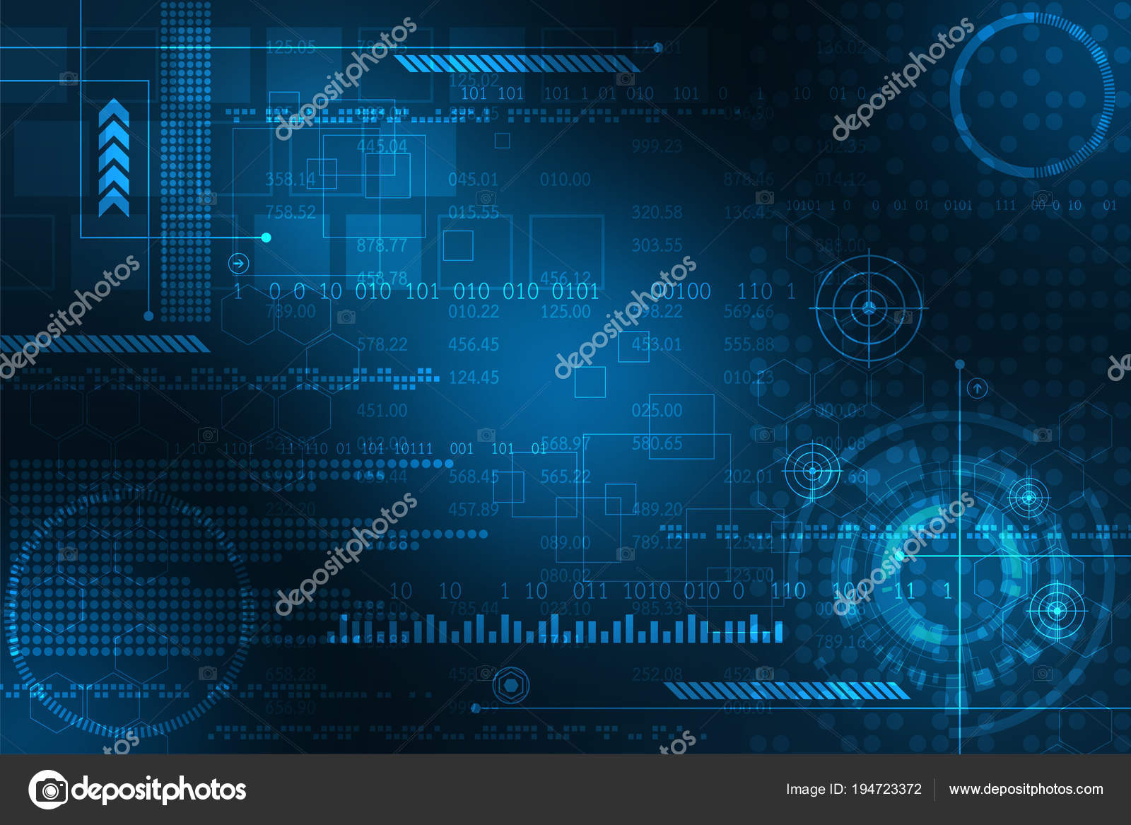 Interface Represents Key Database Digital — Stock Vector ... on