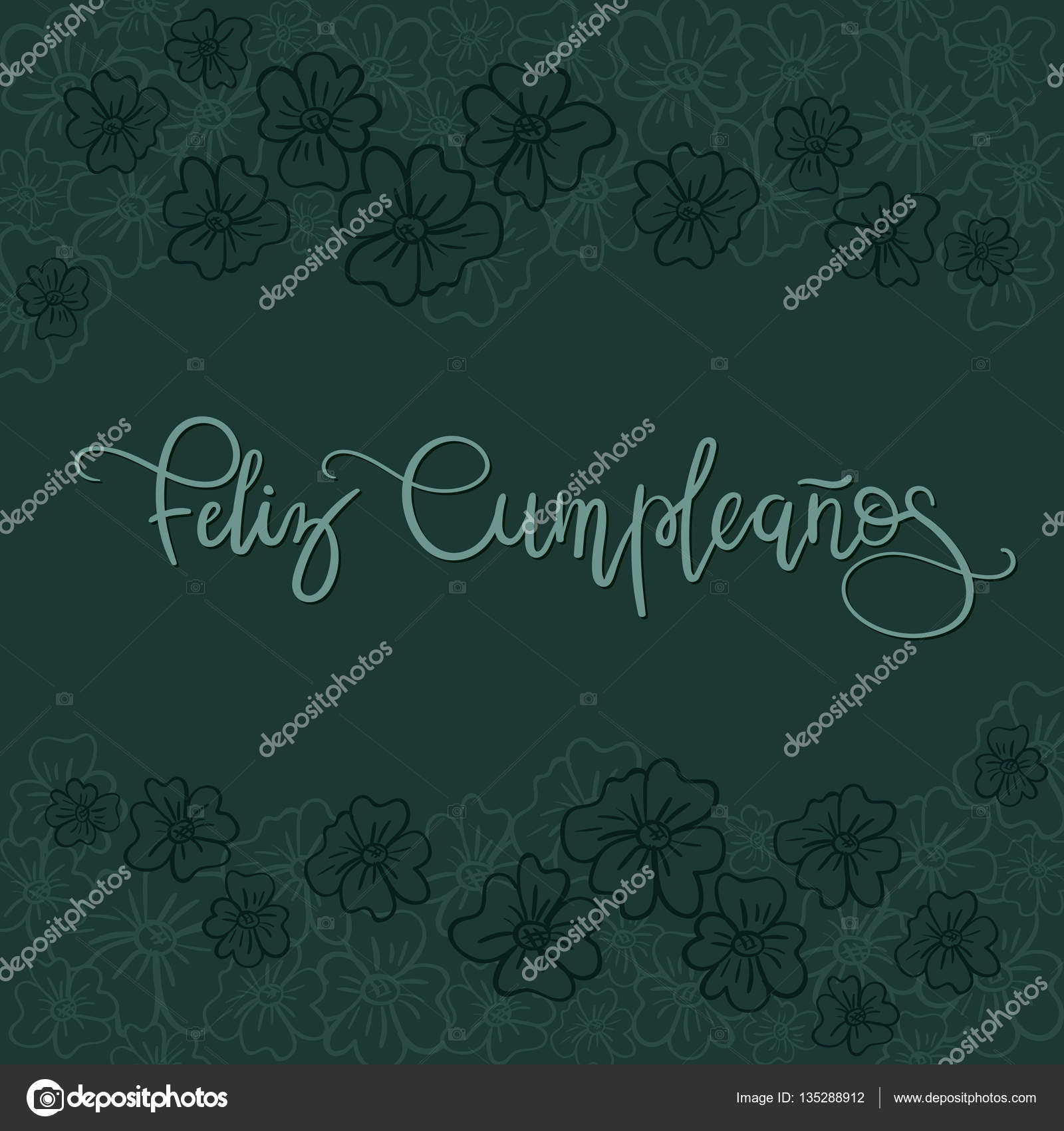 Feliz Cumpleanos Happy Birthday Spanish Text Greeting Card