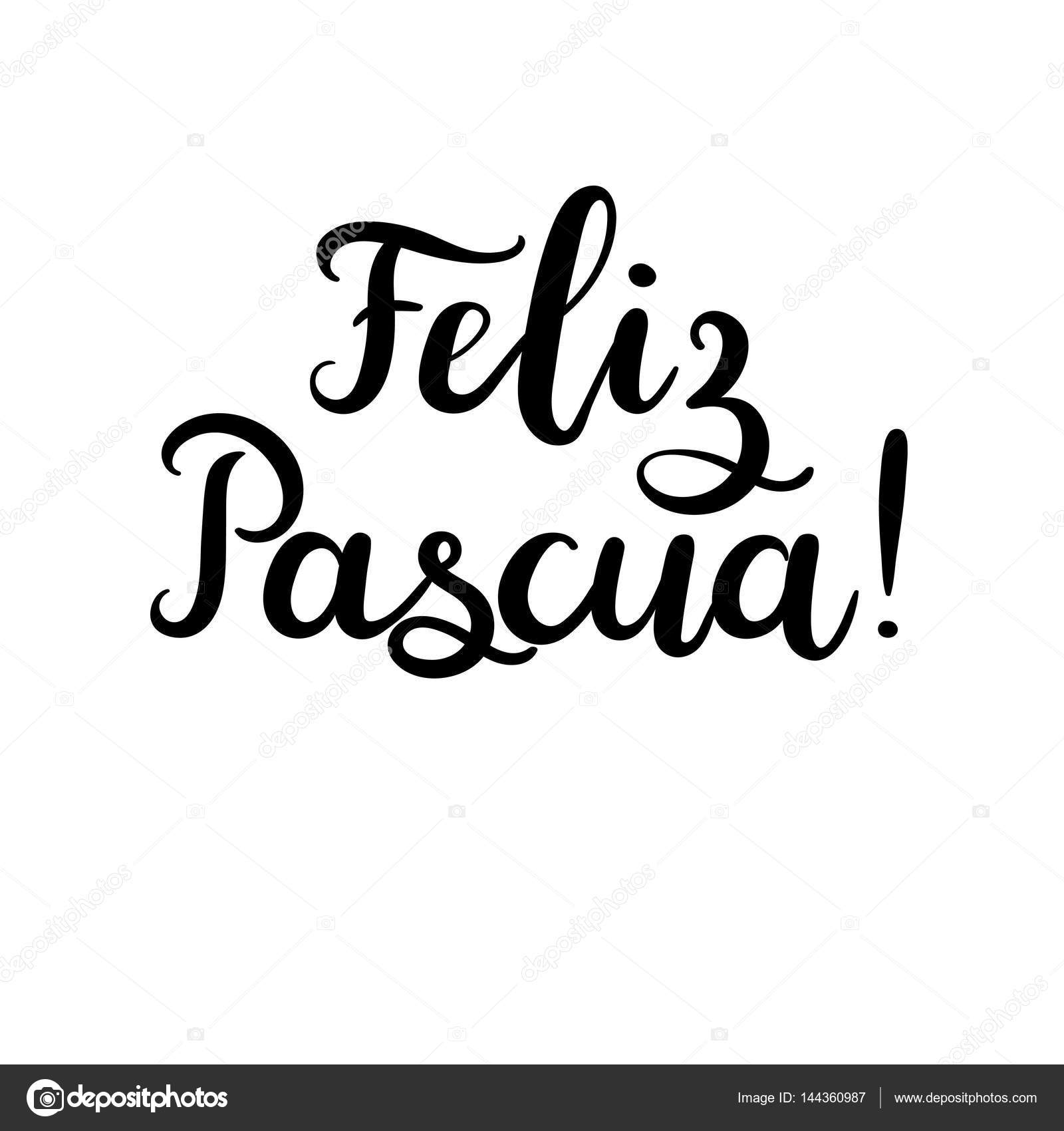 Happy easter in spanish modern calligraphy greeting card brush happy easter in spanish modern calligraphy greeting card brush lettering stock vector m4hsunfo