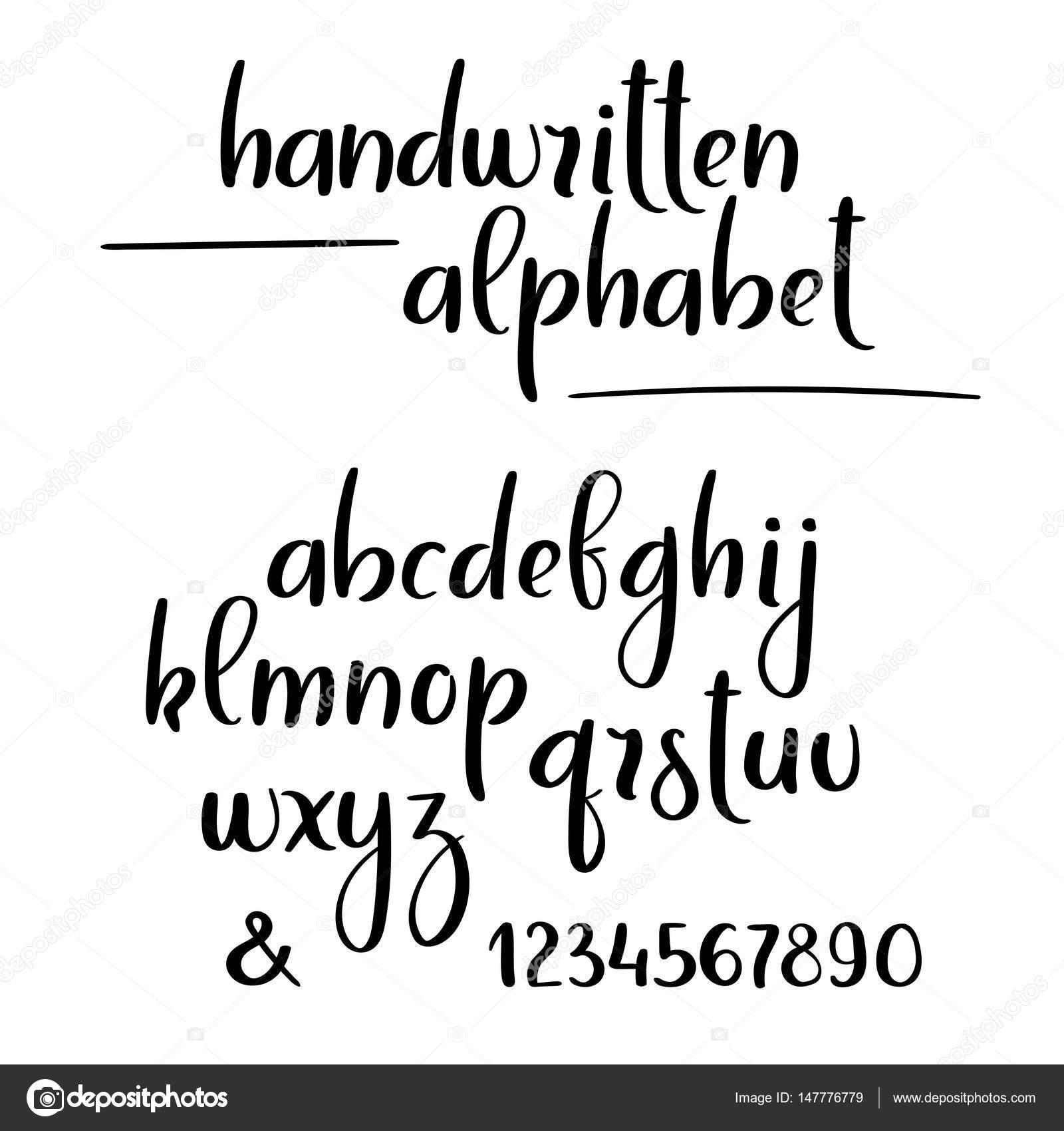 Lettering alphabet brush pen | Vector handwritten brush