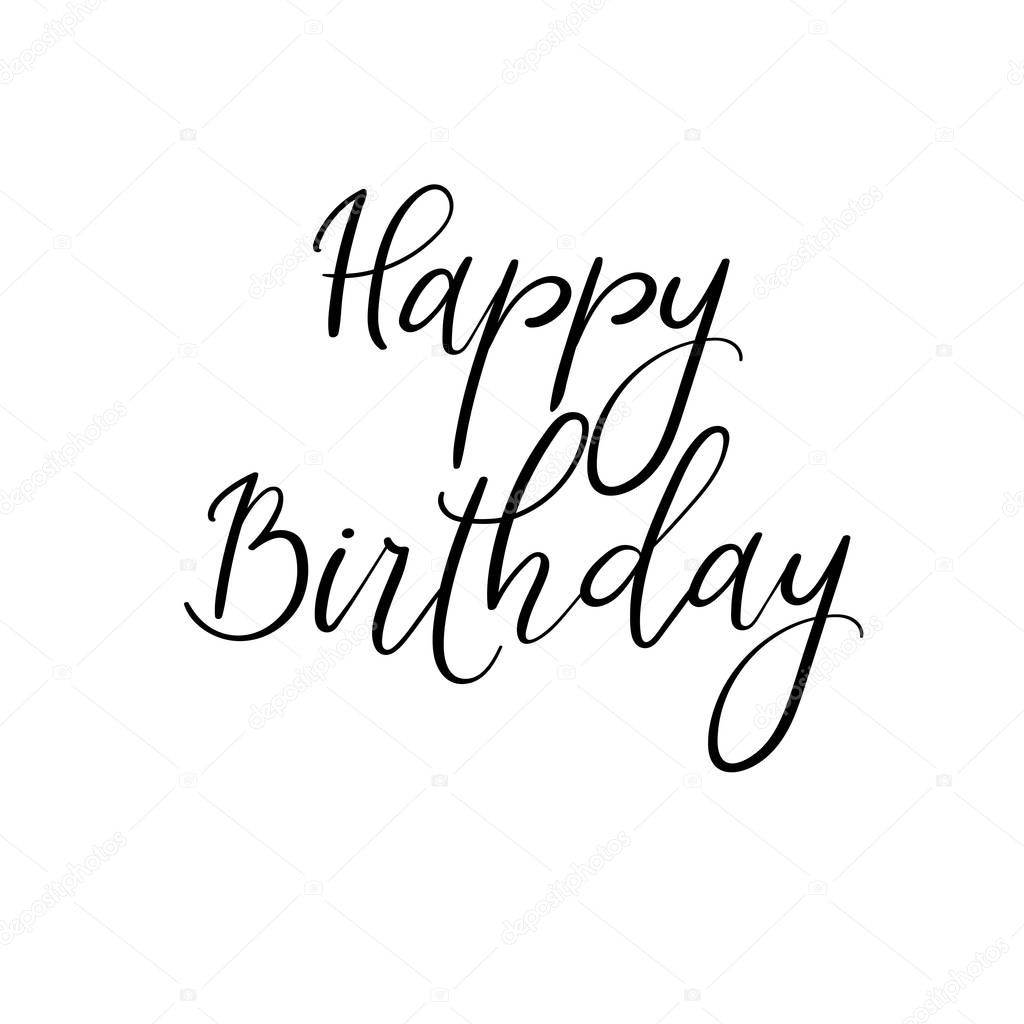 happy birthday hand lettering mano feliz cumplea 241 os lettering caligraf 237 a moderna 22082 | depositphotos 151691976 stock illustration happy birthday hand lettering modern