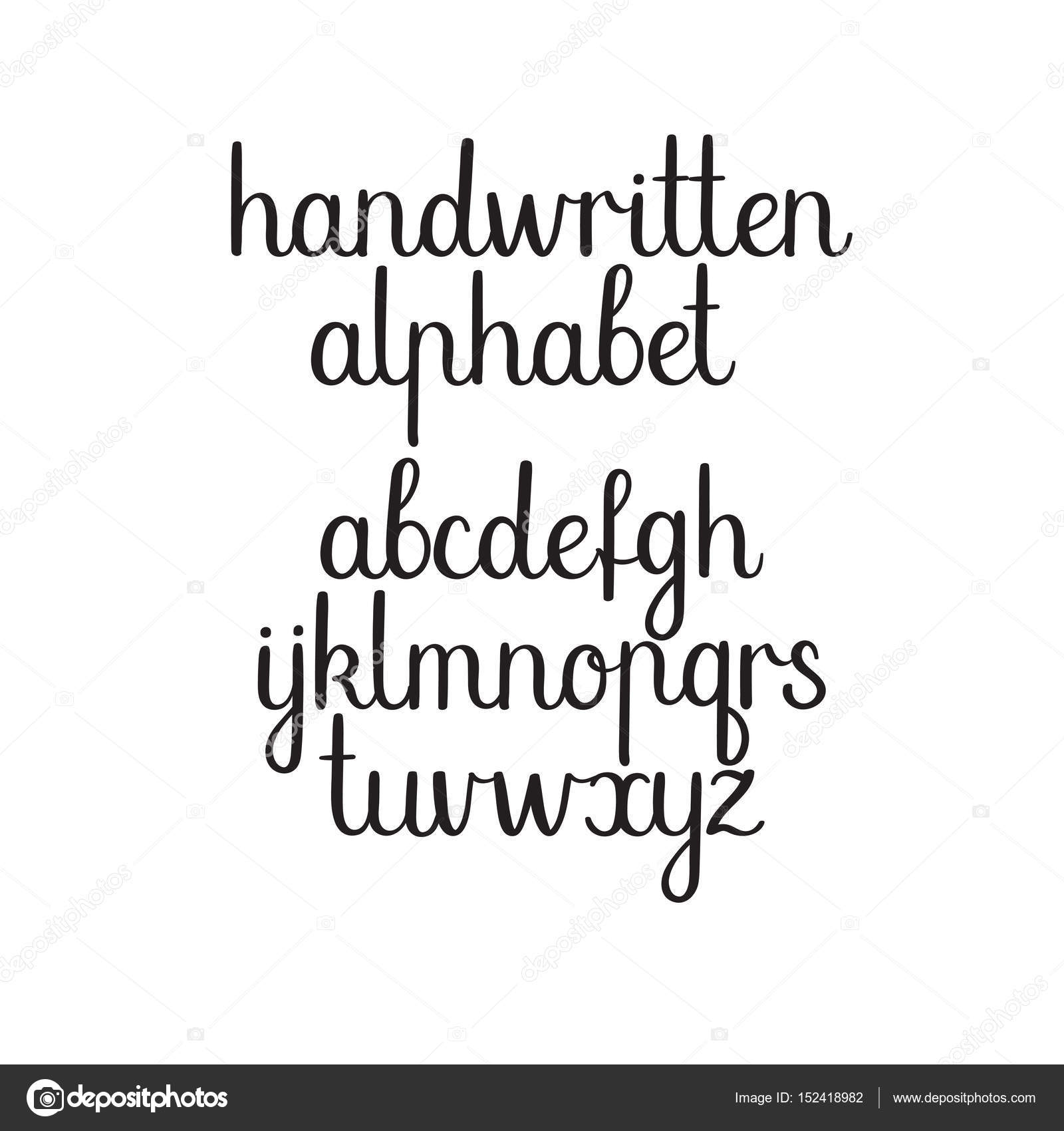 Handwritten Vector Alphabet Hand Drawn Modern Calligraphy Letters Ink Illustration Font By Anmark