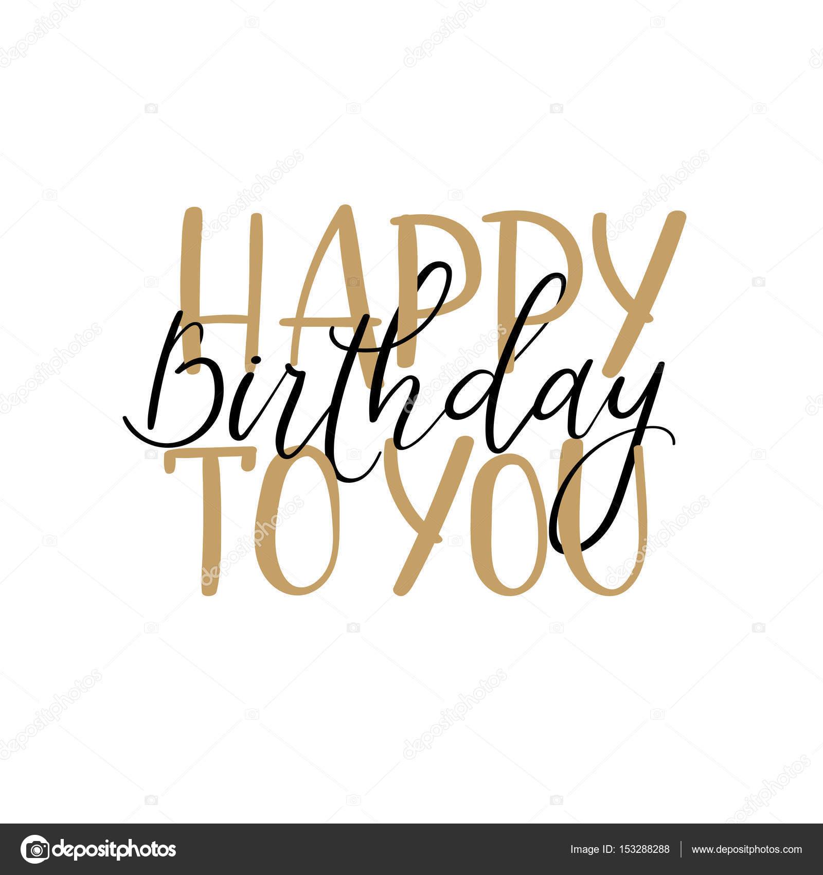 Hartelijk Gefeliciteerd Met Je Verjaardag Hand Belettering