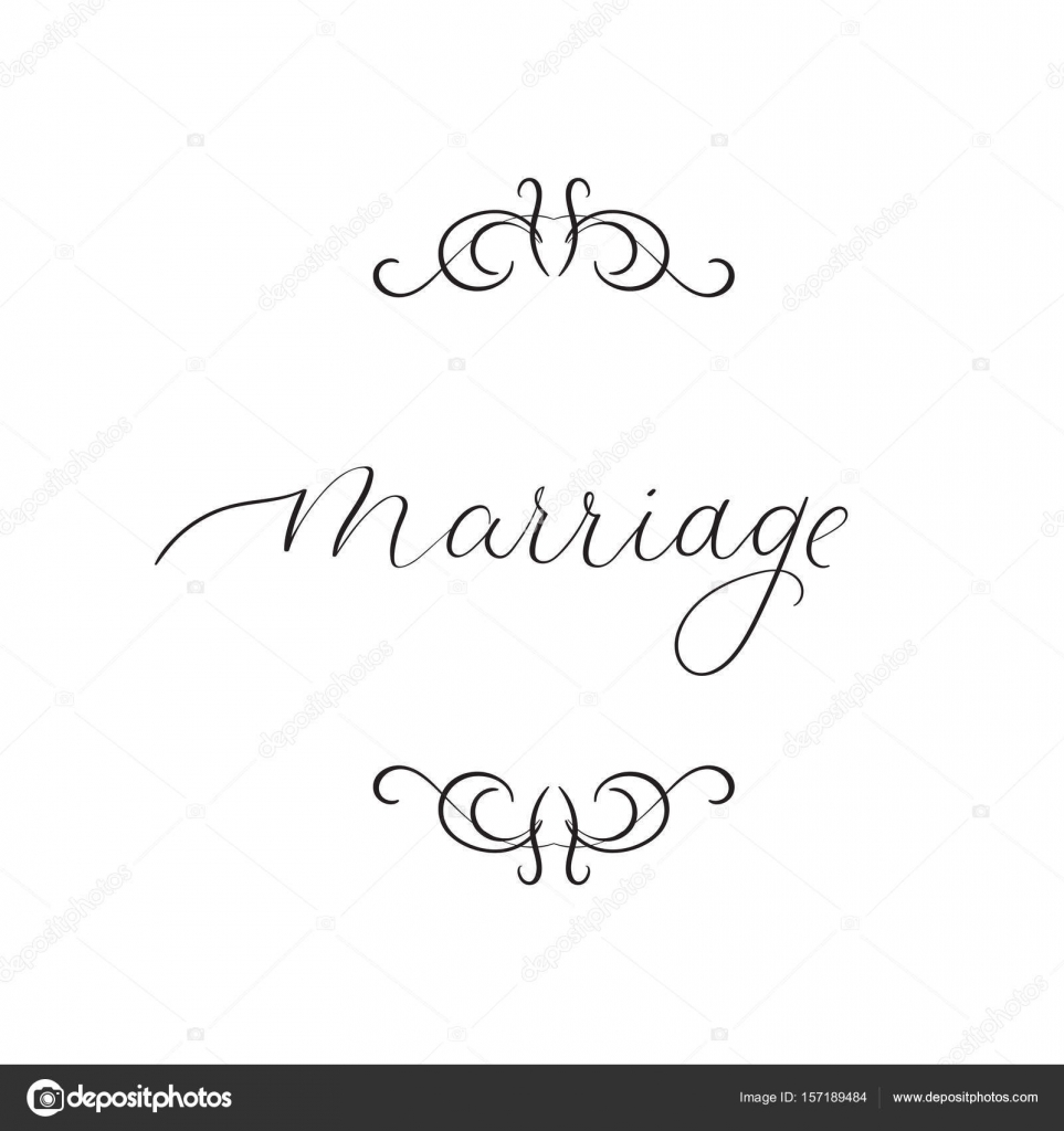 Matrimonio Tarjeta de felicitacin de la letra de mano La