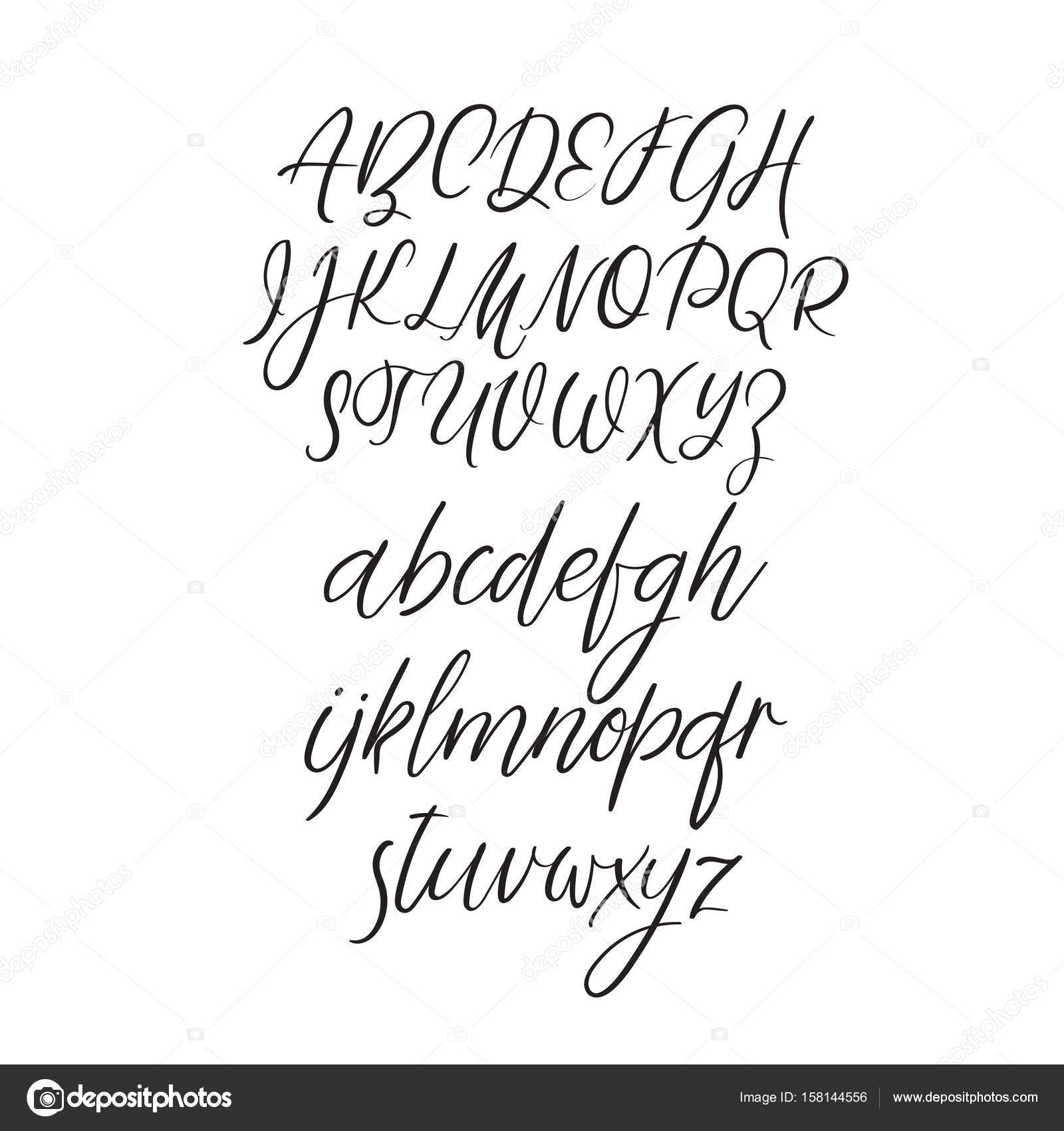 Calligraphy alphabet handwritten brush letters uppercase hand lettering font for your design wedding calligraphy logo slogan window decor postcard greeting card vector by anmark kristyandbryce Choice Image
