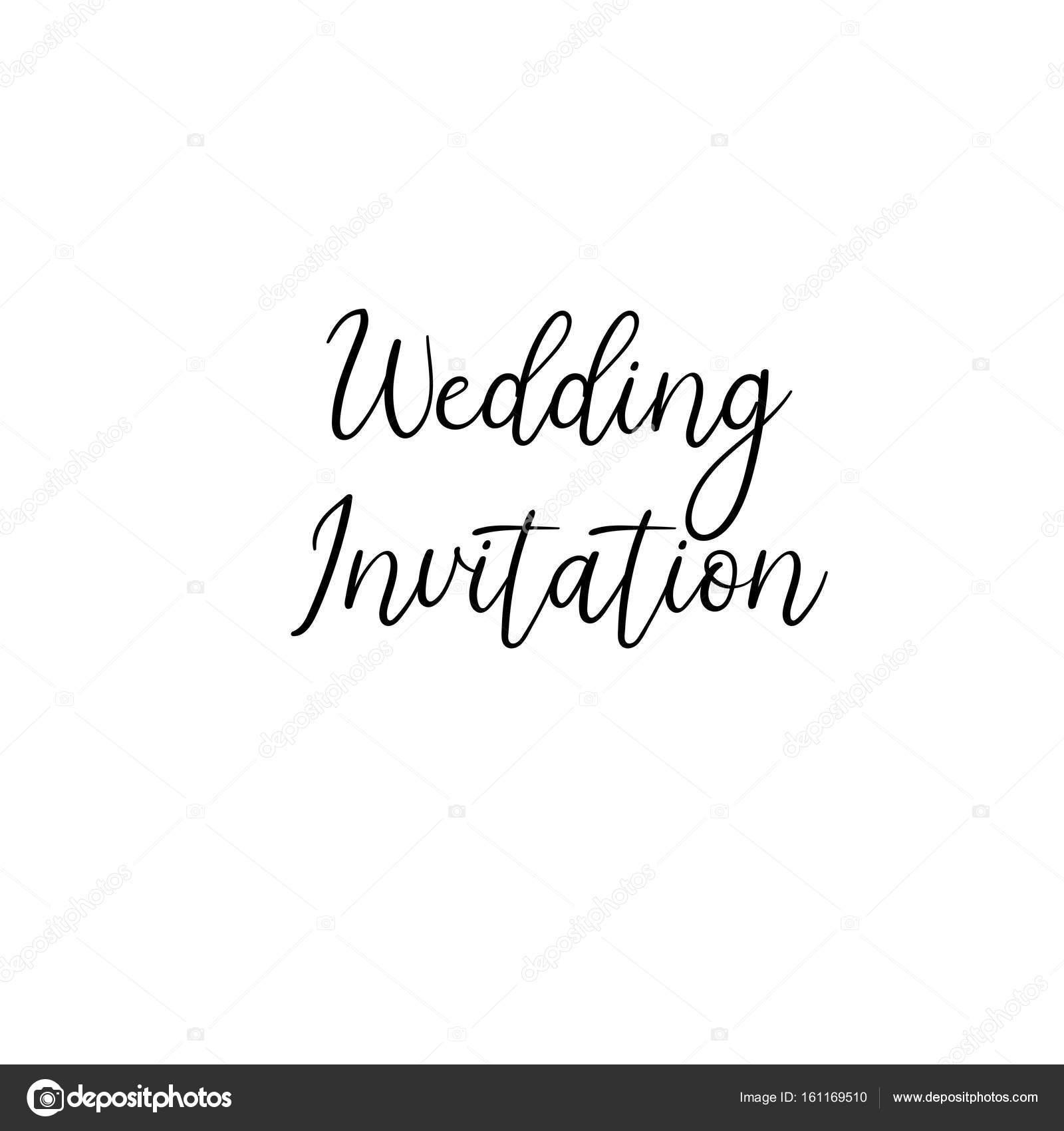 Zaproszenie Na ślub Odręcznie Kaligrafii Dla Kartki