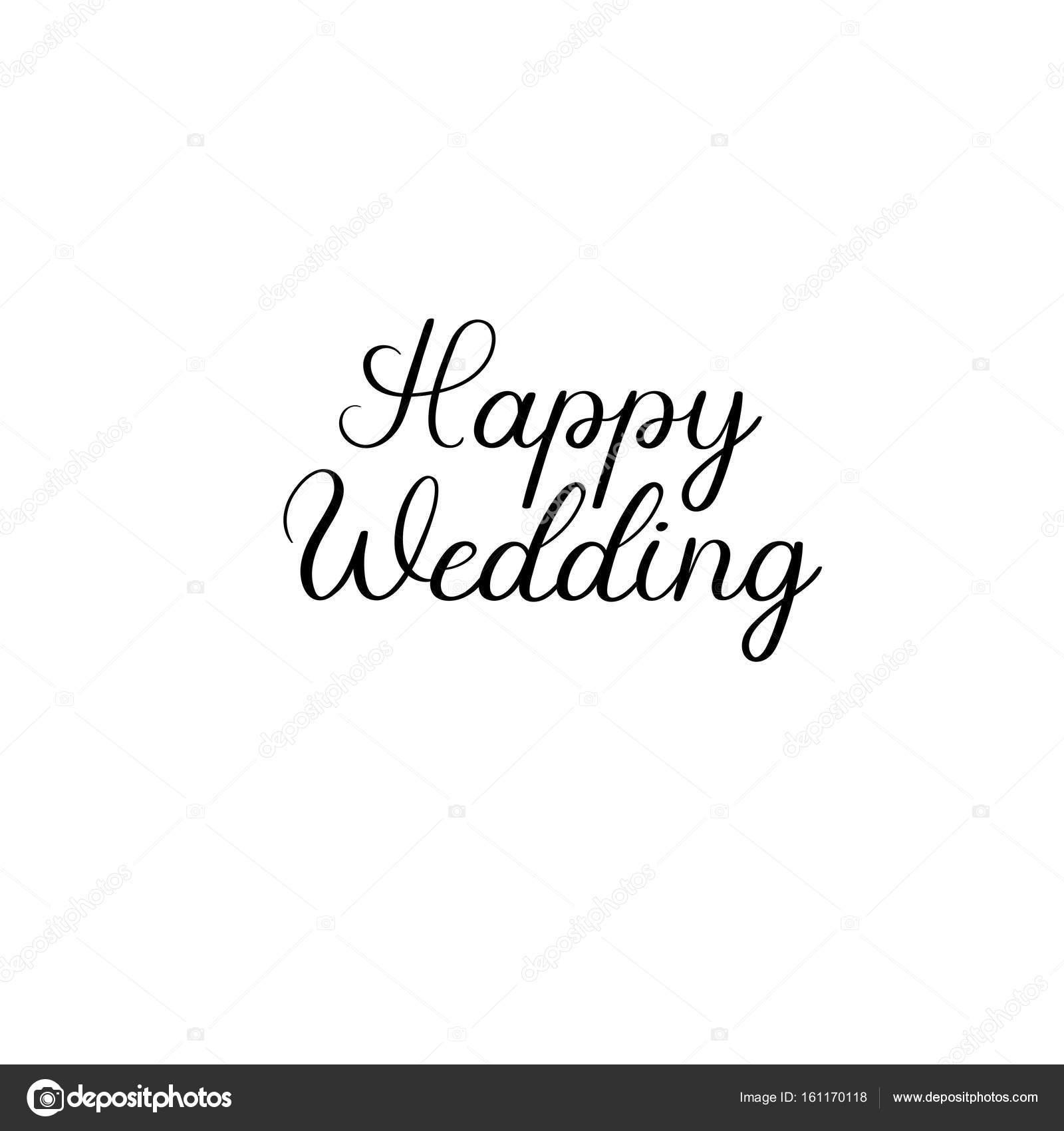 5b46ae7f6f84 Felice matrimonio testo scritto a mano. Iscrizione di calligrafia per biglietti  di auguri