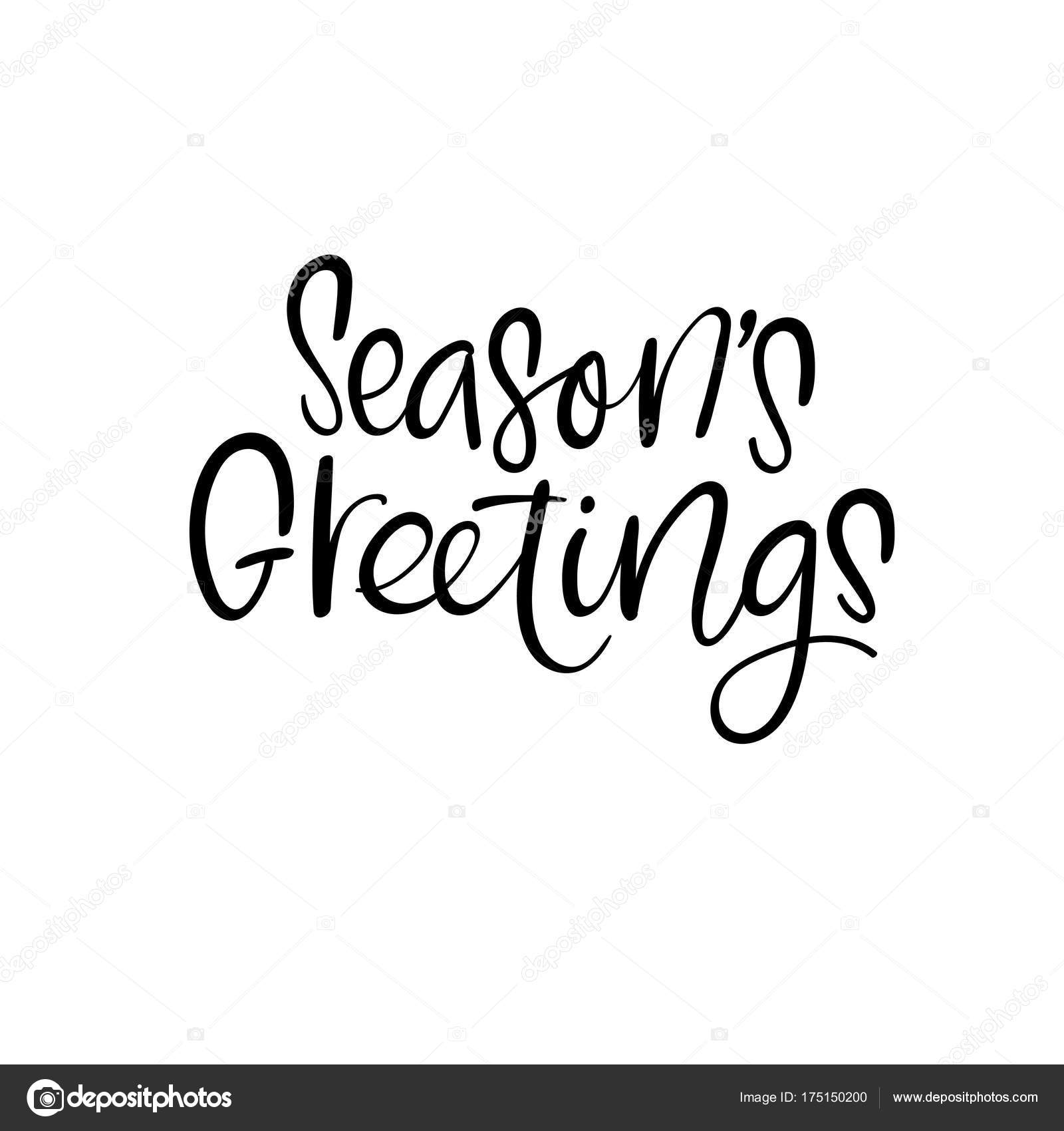Seasons greetings christmas and happy new year cards modern seasons greetings christmas calligraphy handwritten brush lettering for greeting card poster invitation banner hand drawn design elements m4hsunfo