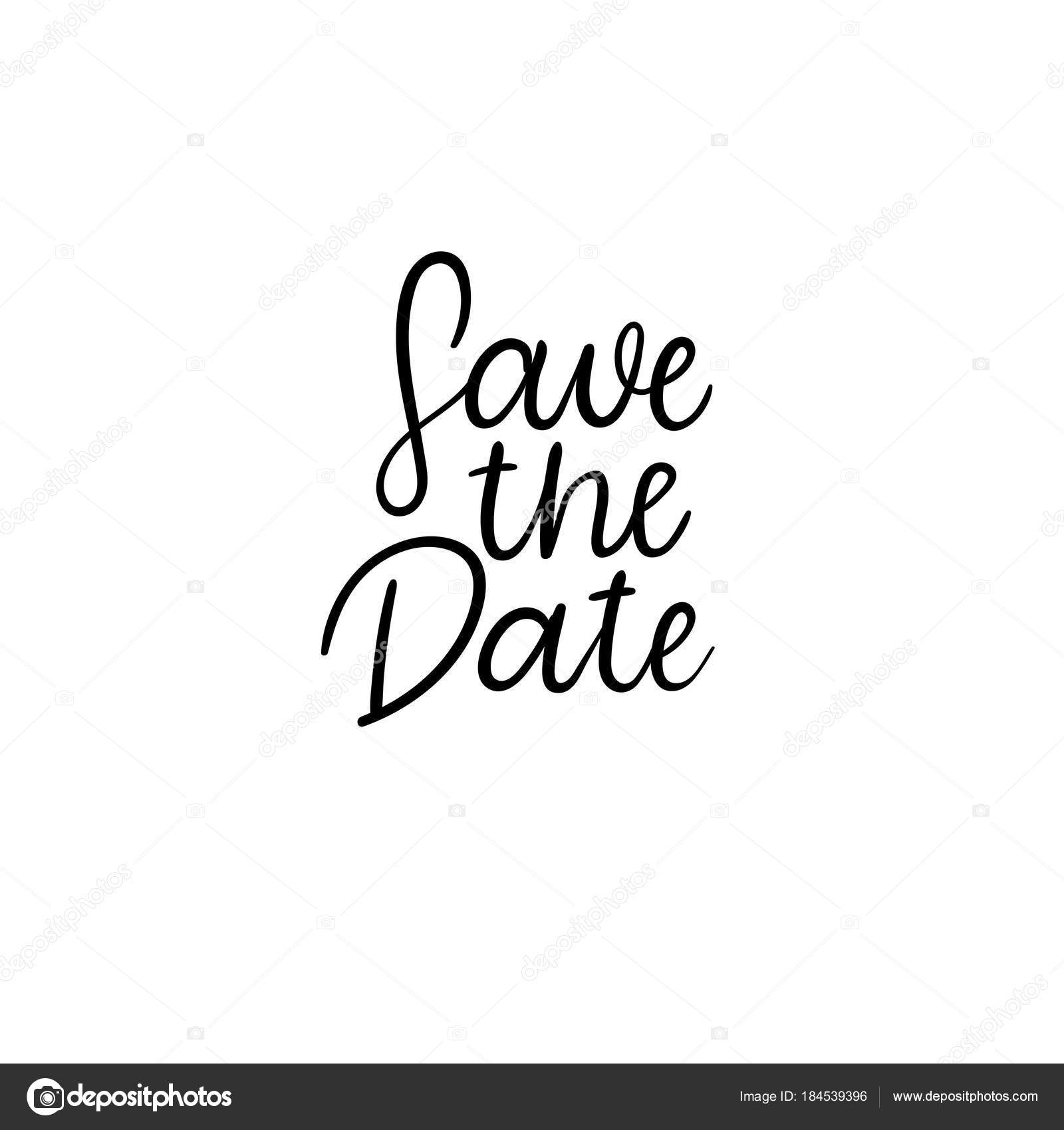 Save the date hand lettering card wedding invitation Modern
