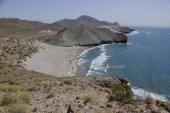Divoké pobřeží Cabo Gata, v Andalusii.