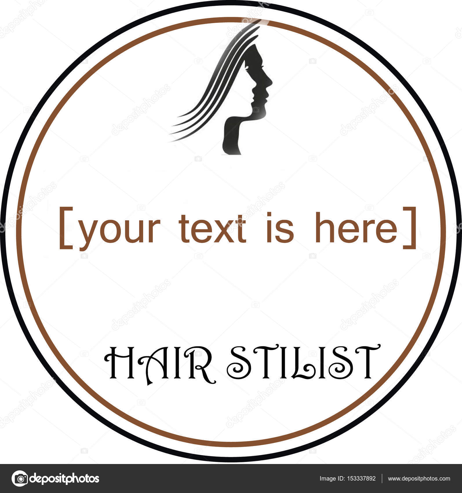 logo for hairdresser, stylist or designer hairstyles — stock photo
