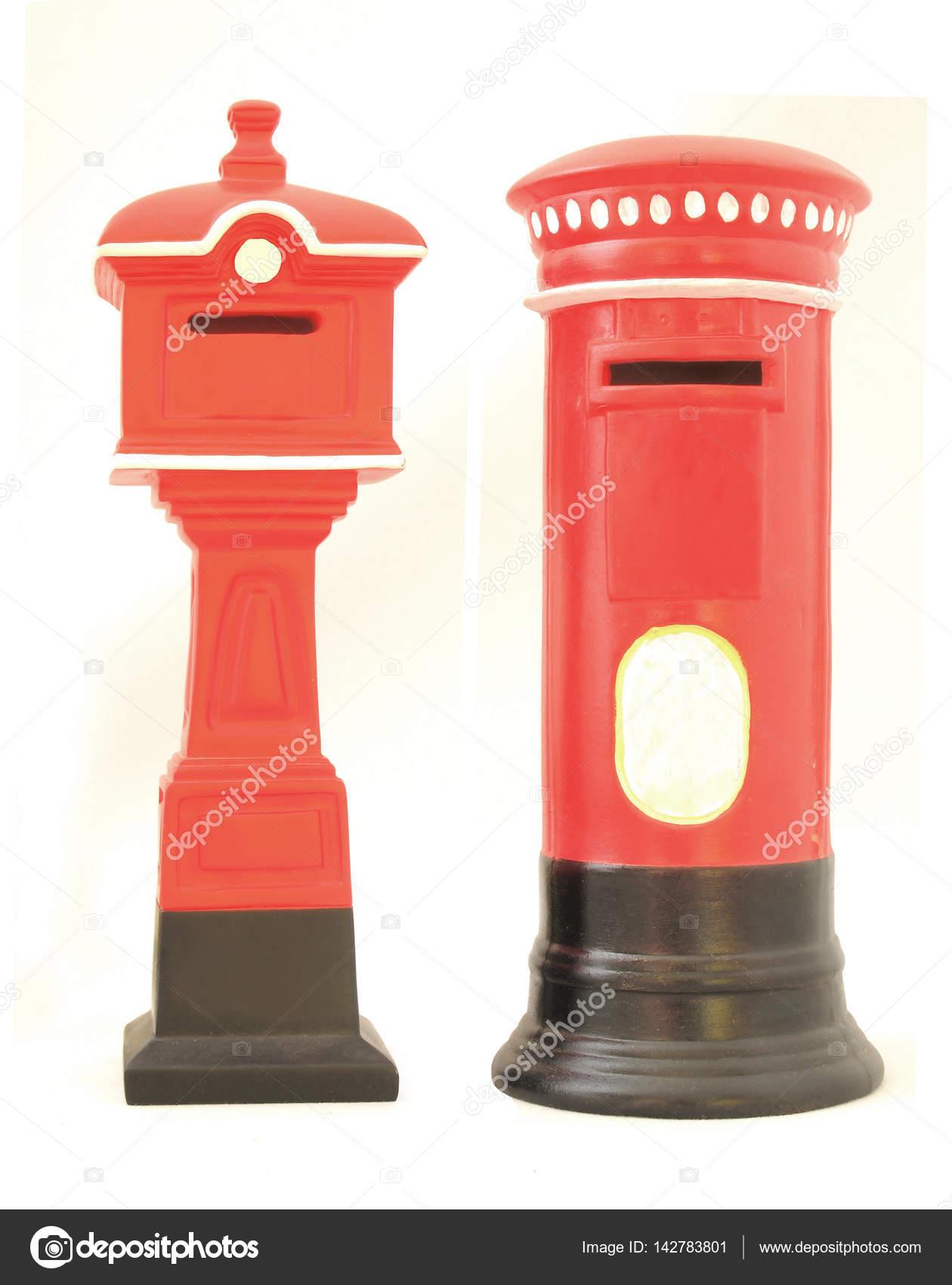 Alten Roten Briefkasten Englische Briefkasten Stockfoto