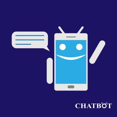 Chatbot or chatterbot illustration