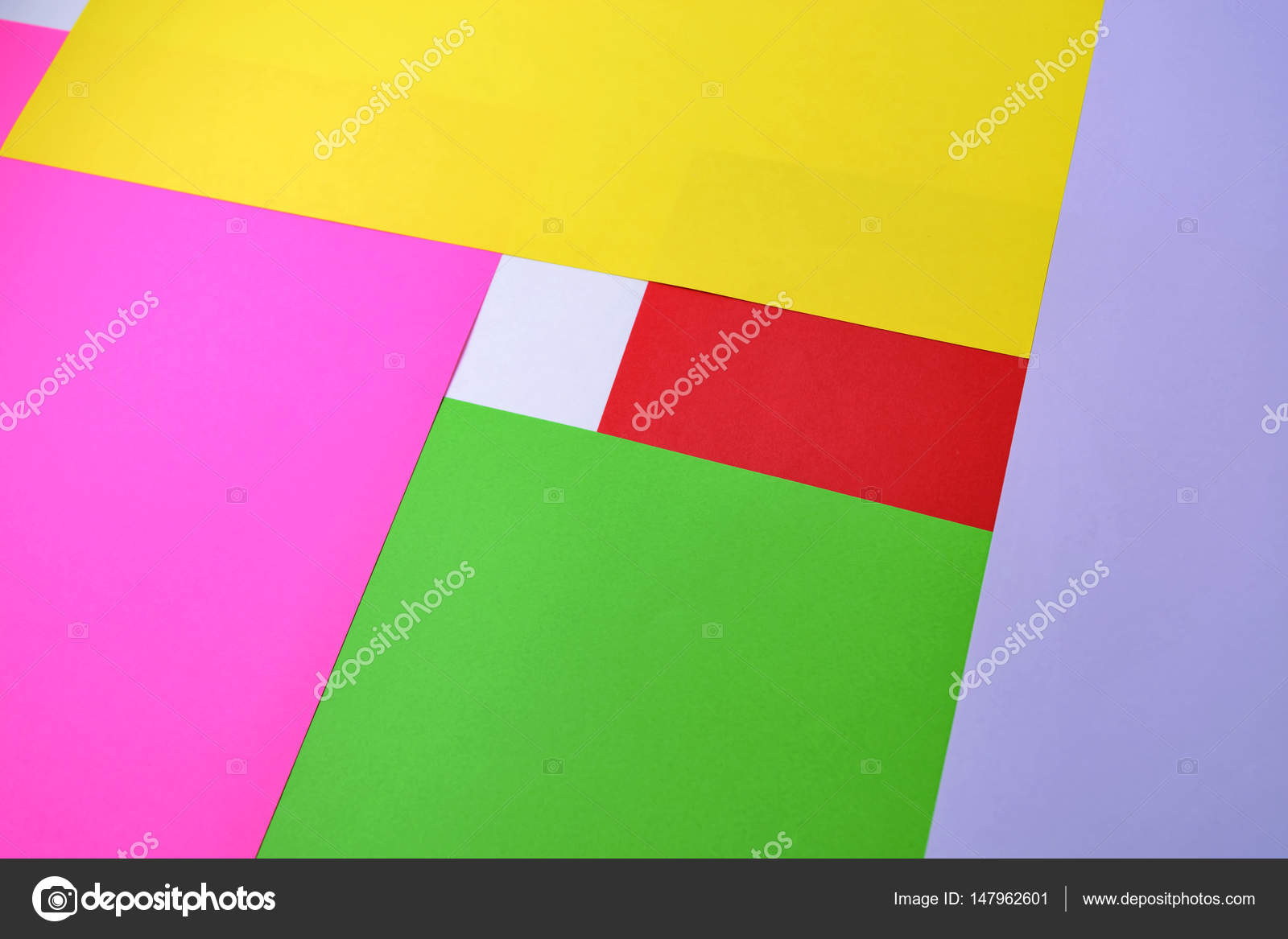 Color paper, abstract composition, the background with yellow, pink ...