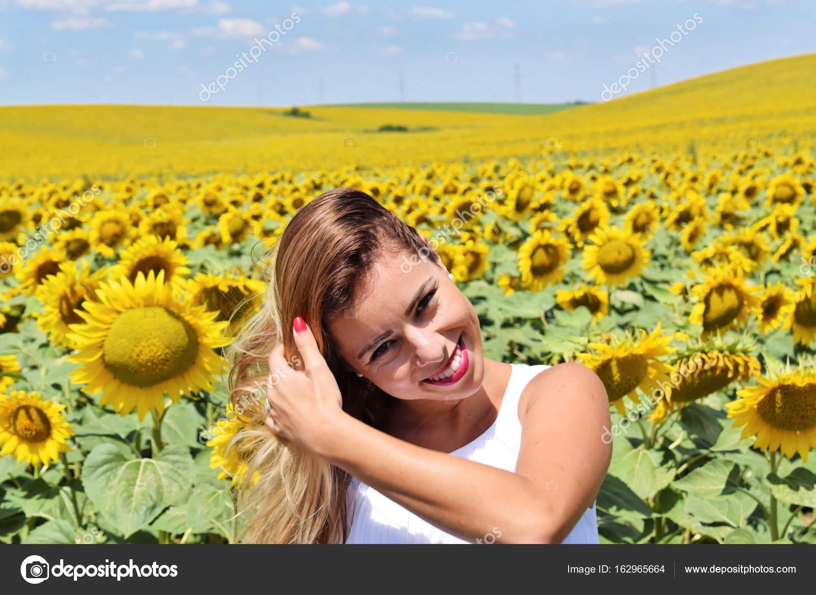 Topic, interesting cute teen girl in farm share