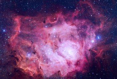 Lagoon Nebula located in the constellation Sagittarius.