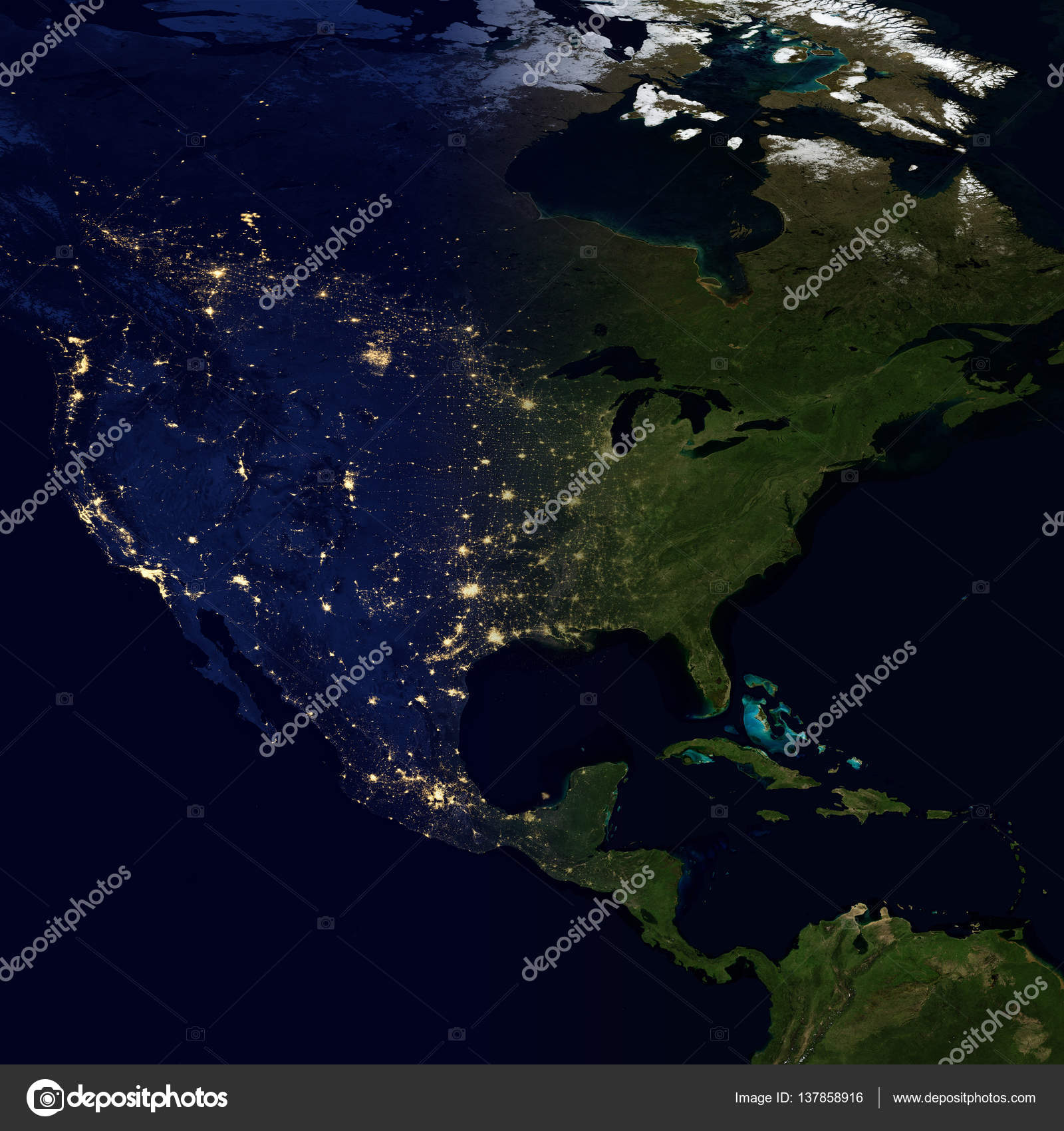 City lights on world map north america stock photo nasaage city lights on world map north america elements of this image are furnished by nasa photo by nasaage gumiabroncs Choice Image