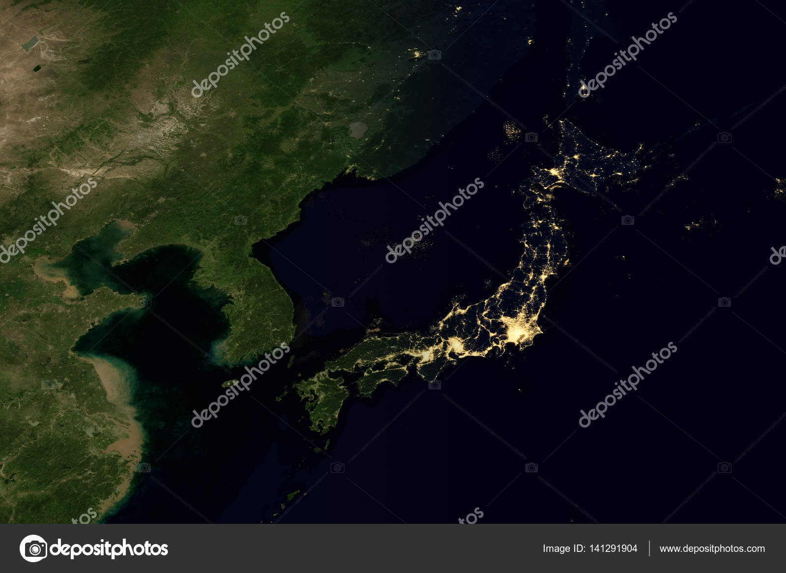 City lights on world map japan stock photo nasaage 141291904 city lights on world map japan elements of this image are furnished by nasa photo by nasaage gumiabroncs Image collections
