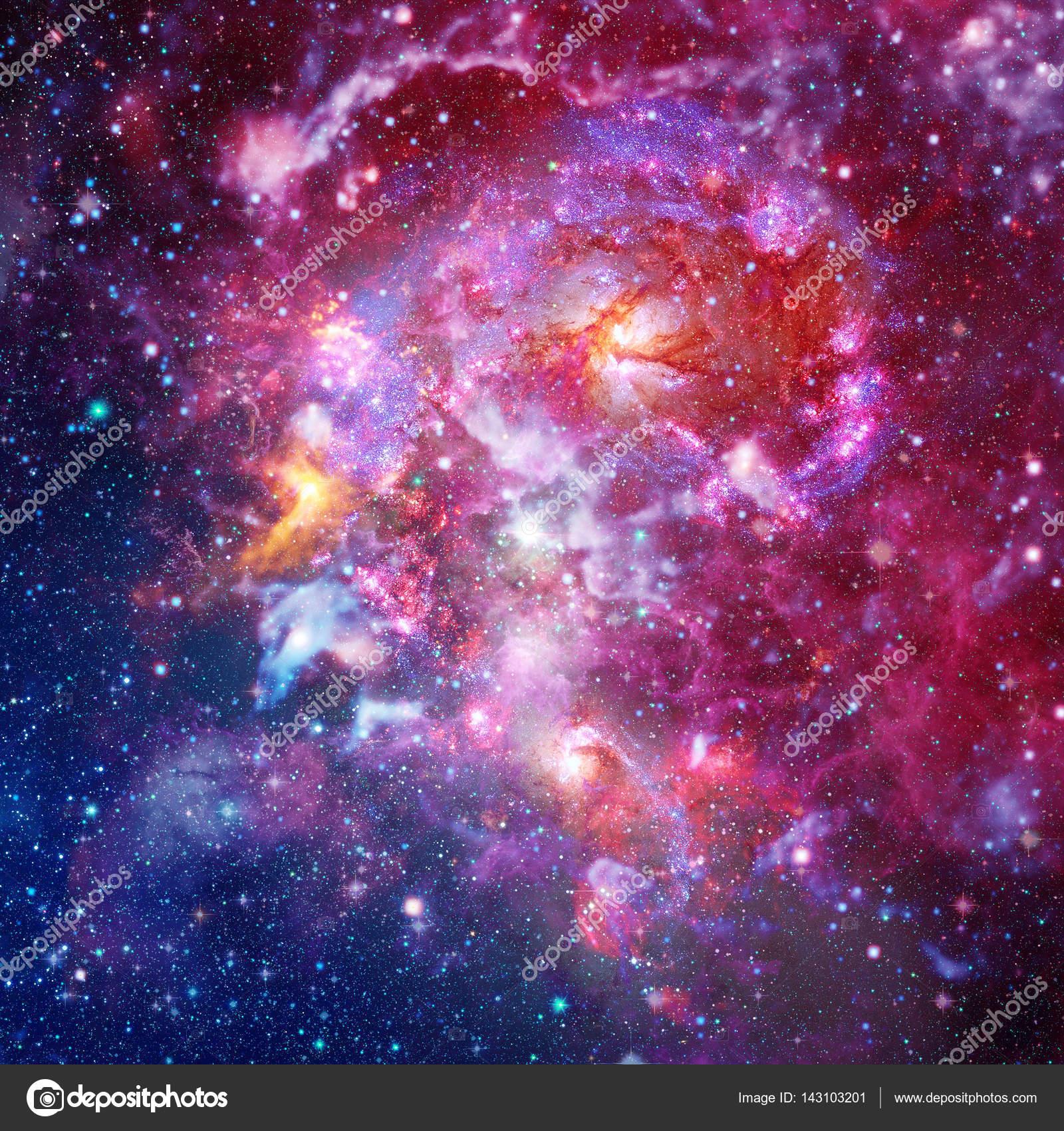 渦巻銀河と宇宙星雲 — ストック...