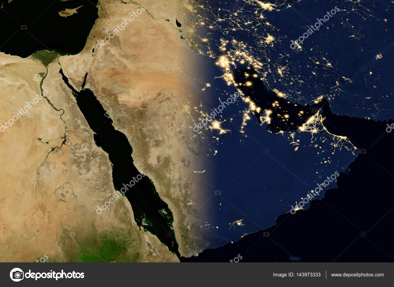 city lights on world map arabian peninsula elements of this image are furnished by nasa photo by nasaimage