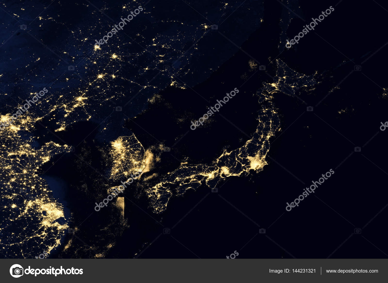 City lights on world map japan stock photo nasaage 144231321 city lights on world map japan elements of this image are furnished by nasa photo by nasaage gumiabroncs Gallery