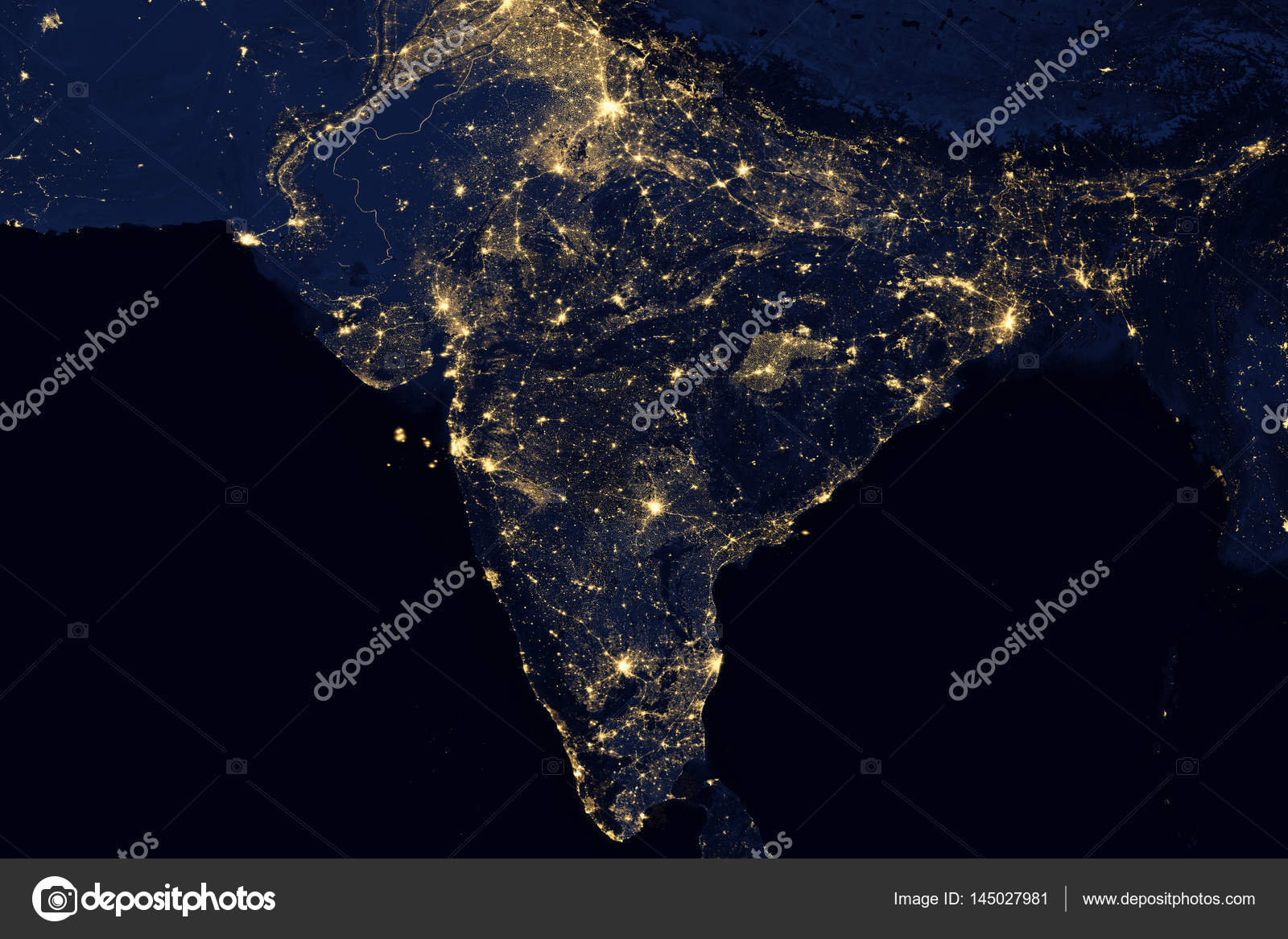City lights on world map india stock photo nasaage 145027981 city lights on world map india elements of this image are furnished by nasa photo by nasaage gumiabroncs Images