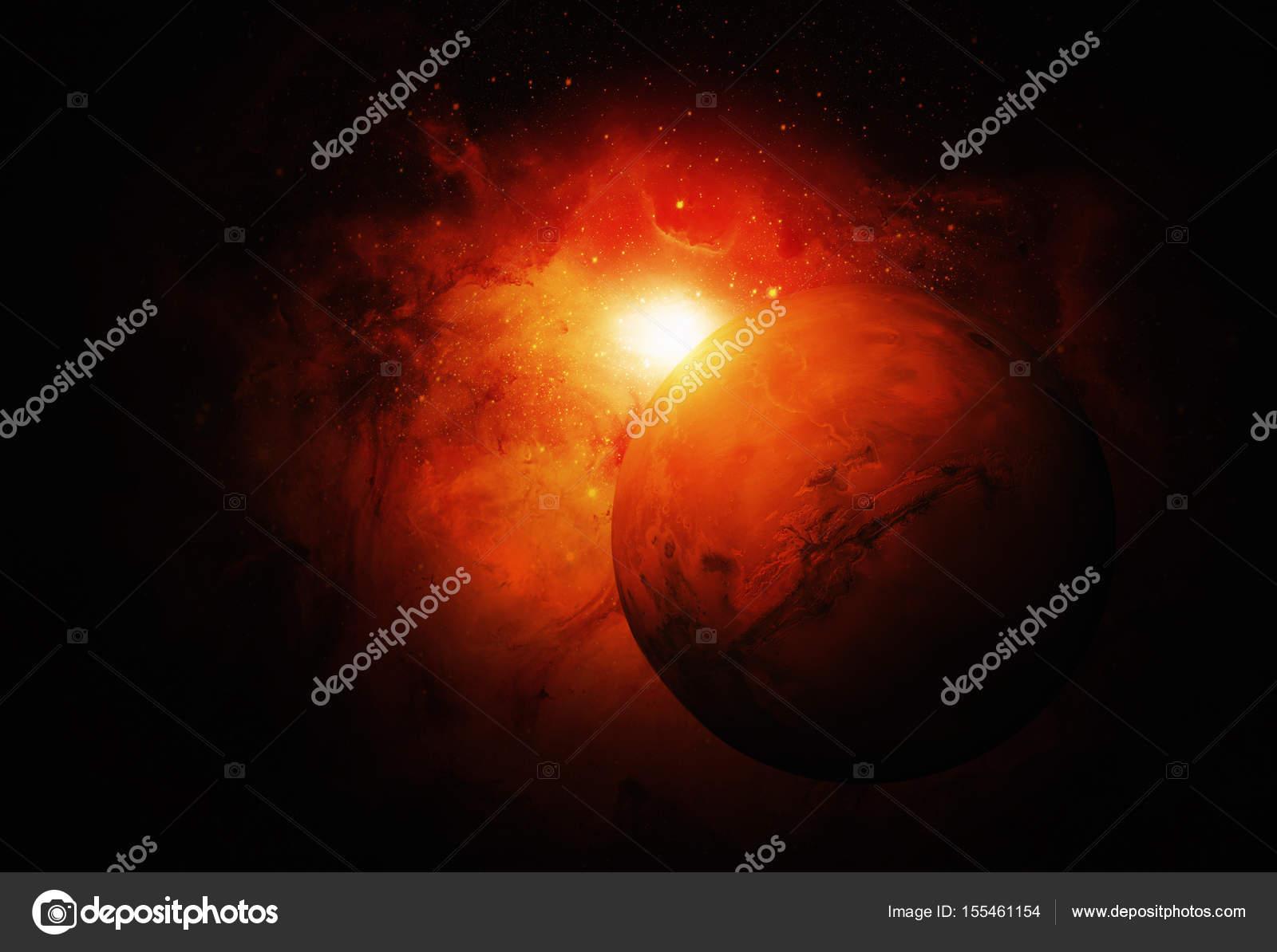 Sistema solar - Marte. Es el cuarto planeta desde el sol — Fotos de ...