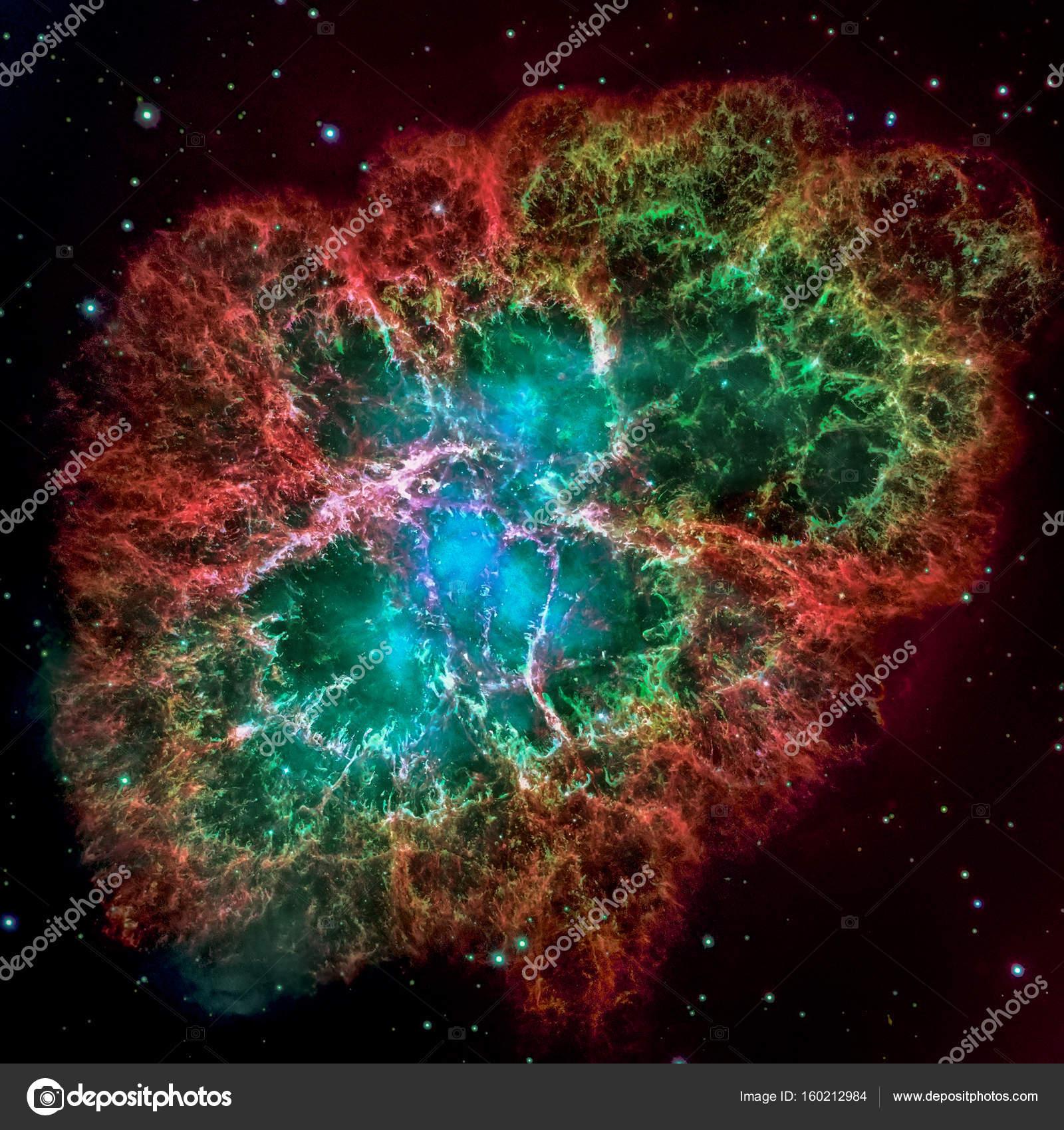 Nébuleuse Du Crabe Est Un Vestige De Supernova Explosion D
