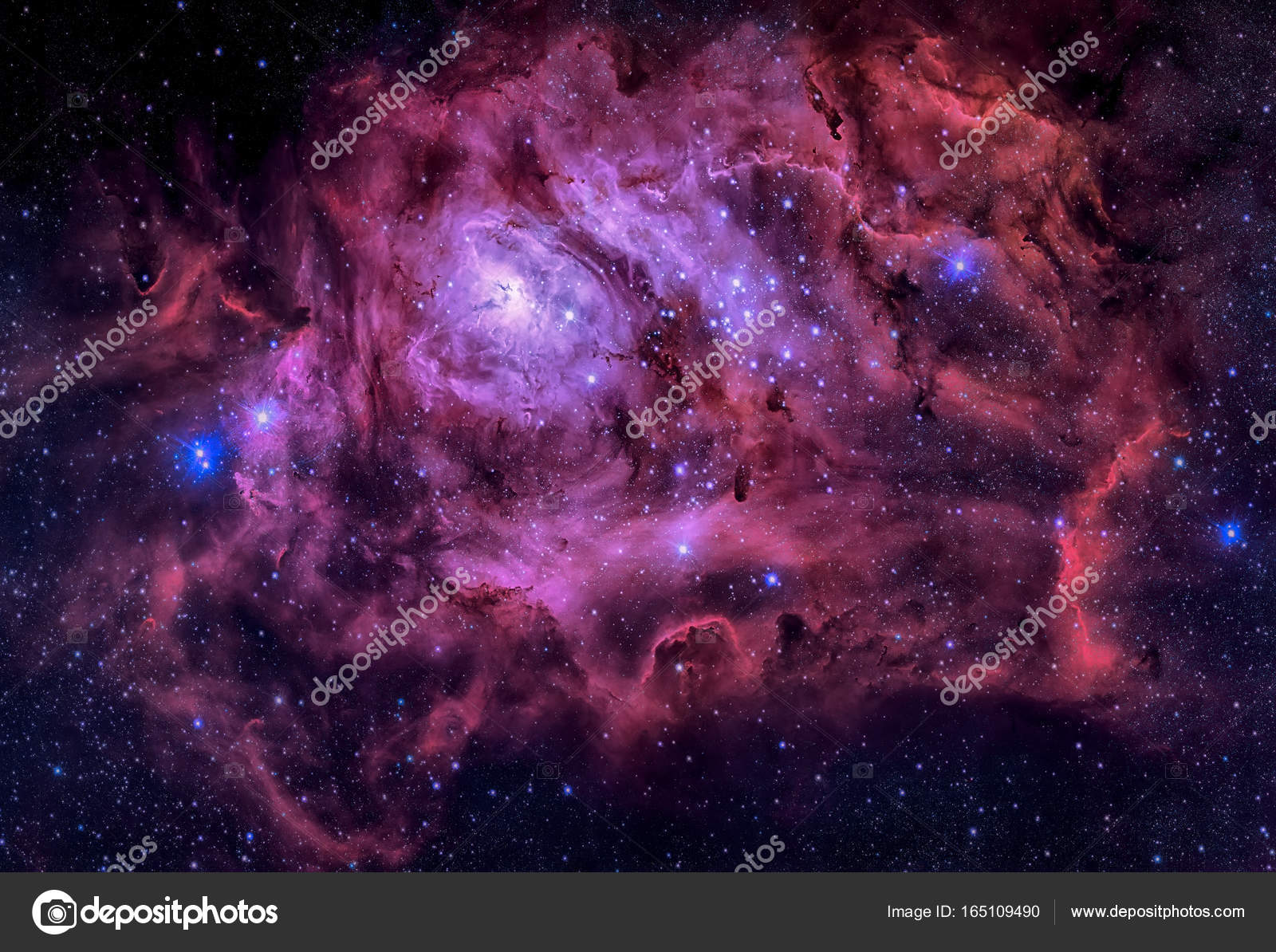 Lagoon Nebula located in the constellation Sagittarius