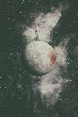 Charon is the largest moon of the dwarf planet Pluto.