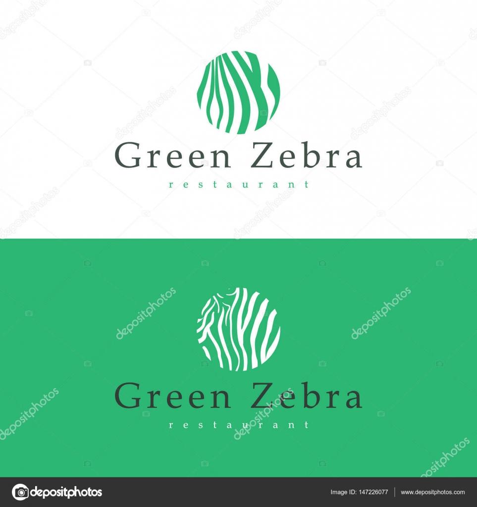 Design-Visitenkarte Restaurant Green Zebra — Stockvektor © Greens87 ...