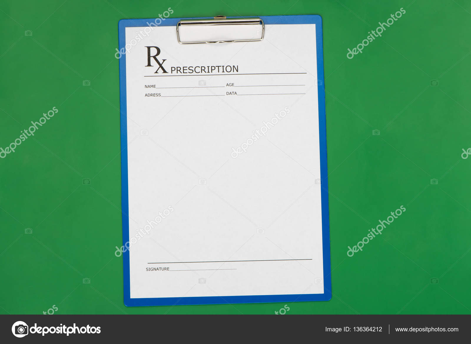 Blank Prescription Form On Desktop Background Photo By Tom934