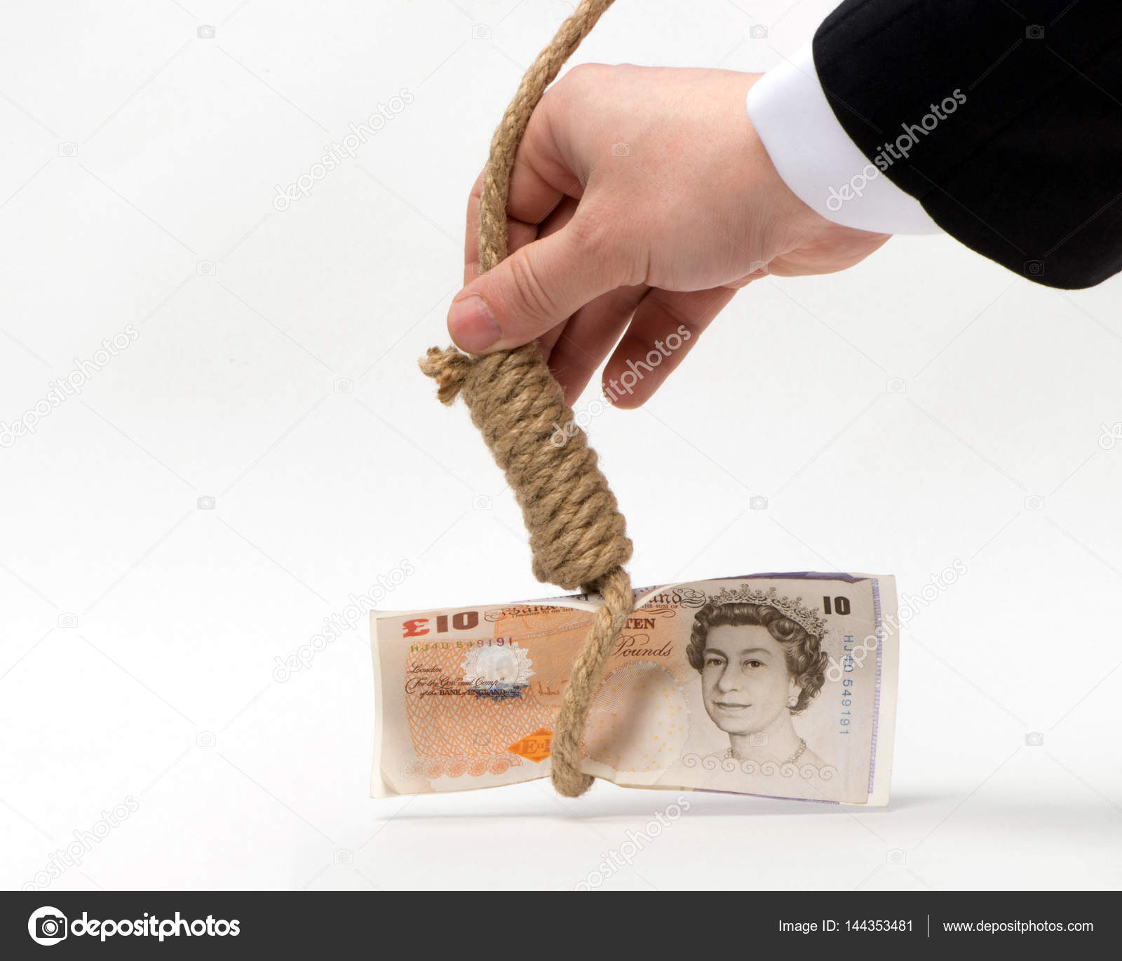 Prospects For The Pound As A Symbol On A White Background Stock