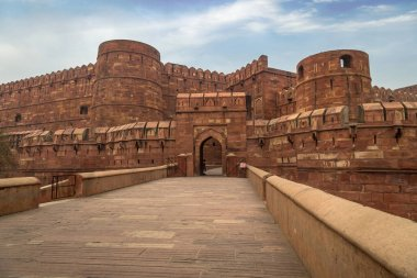 Agra Fort - A UNESCO World Heritage site in the city of Agra India.