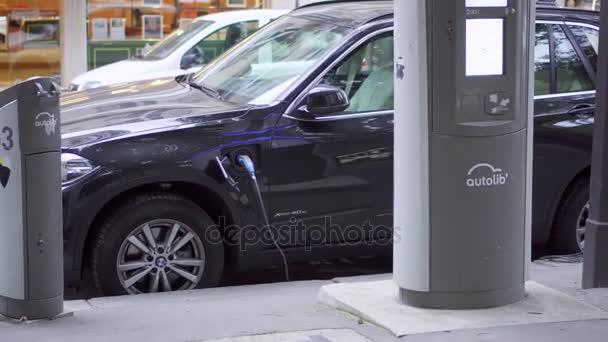 Paris Frankrijk Circa Augustus 2017 Bmw Elektrische Auto Opladen