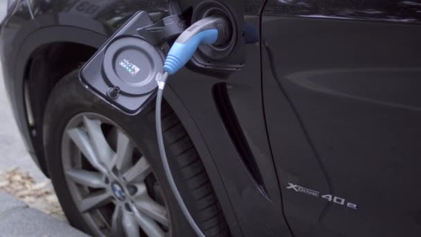 Paris France Circa August 2017 Bmw Electric Car Charging Electro
