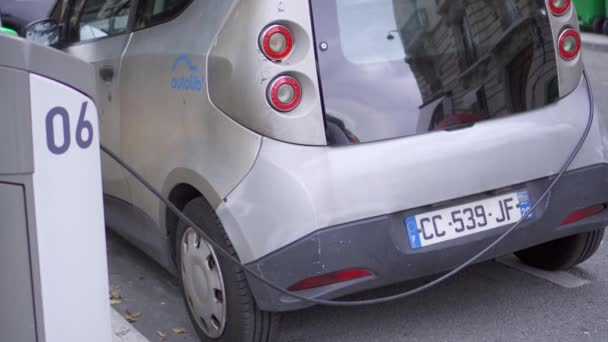 Paris Frankrijk Circa Augustus 2017 Grijze Elektrische Auto