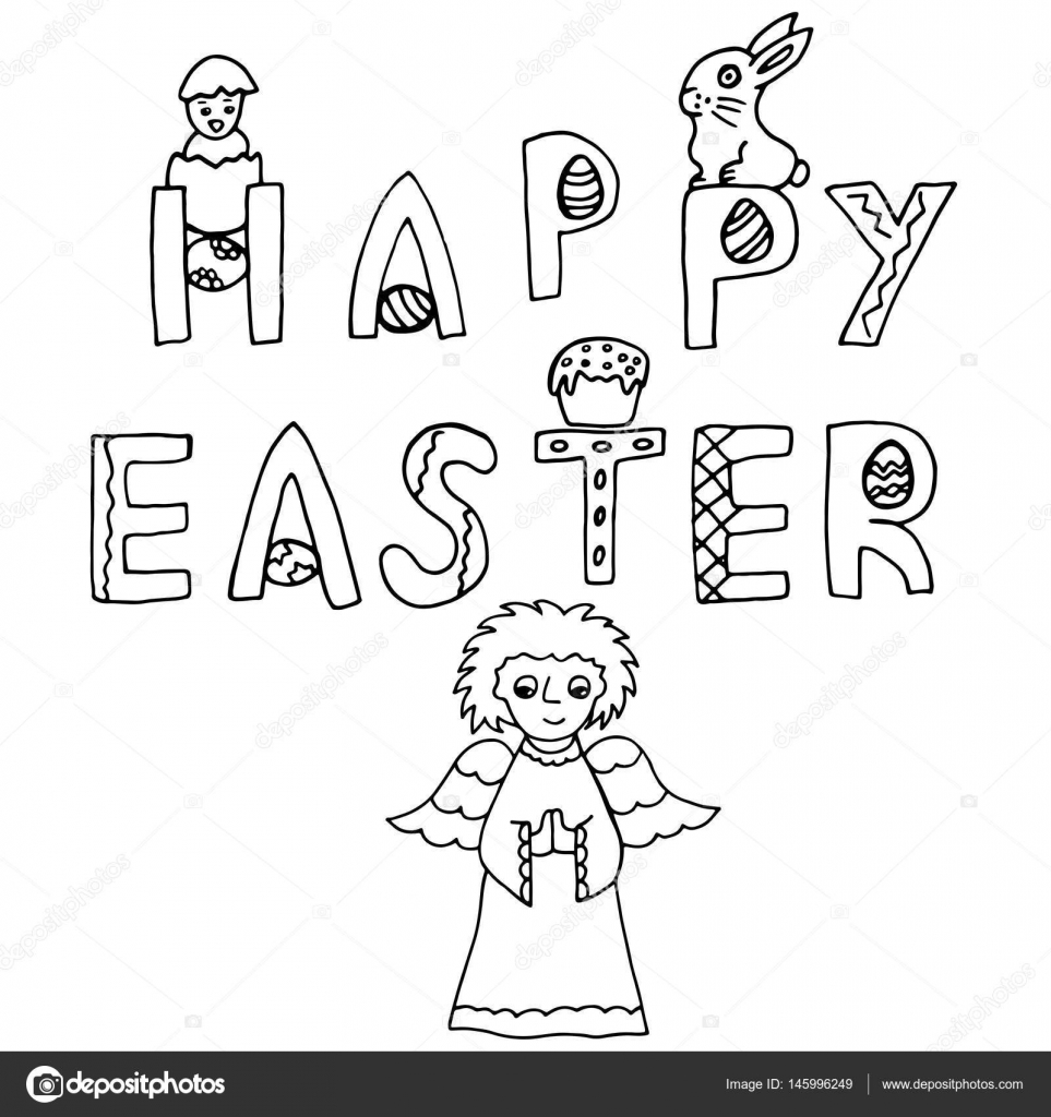Frohe Ostern Handzeichnung Banner — Stockvektor © Insomnia_sky ...