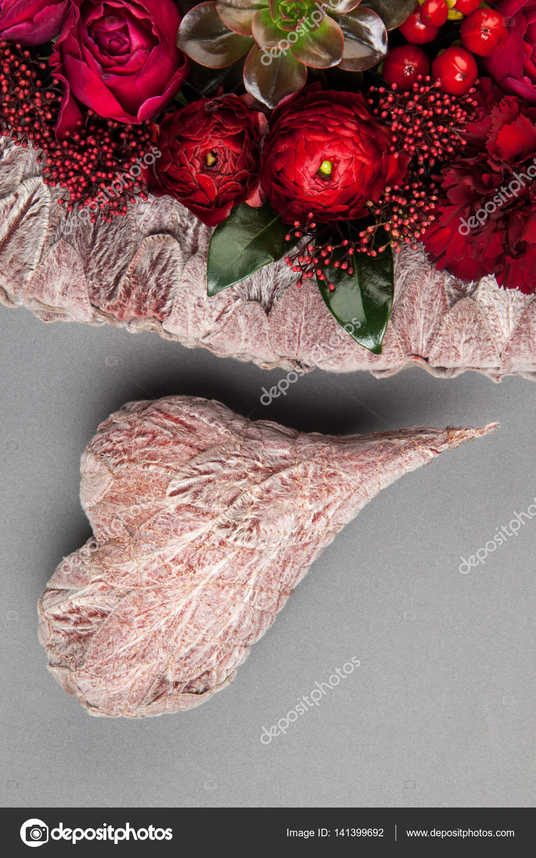 A bouquet of flowers on a grey background stock photo warloka a bouquet of flowers on a grey background stock photo izmirmasajfo