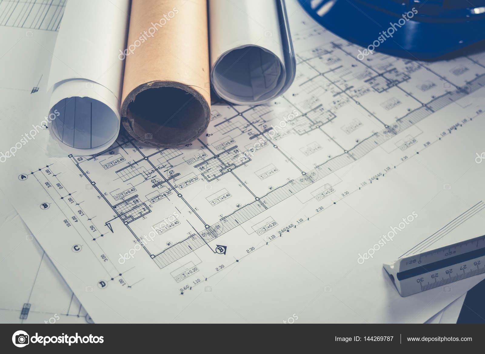 technische Diagramm Blaupause Papier Ausarbeitung Projekt Skizze ...