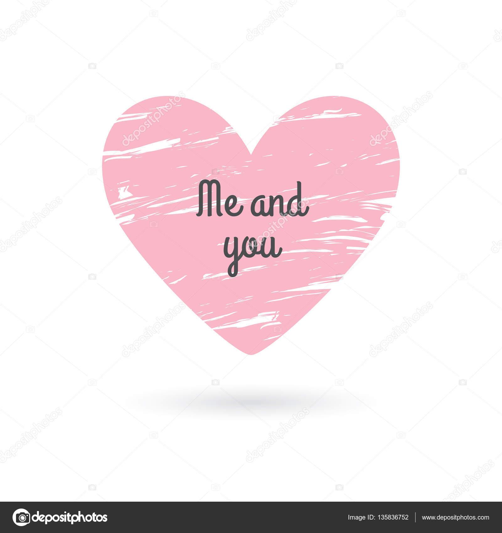 Frase De Amor Del Día De San Valentín Corazón De Grunge