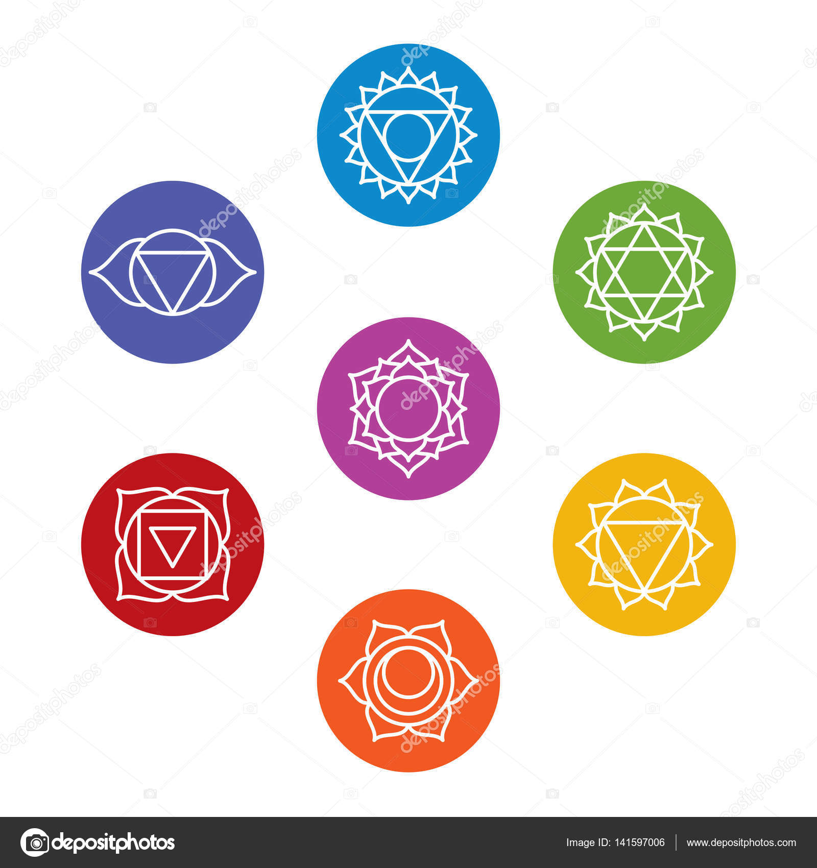 chakra symbols vector images galleries with a bite. Black Bedroom Furniture Sets. Home Design Ideas
