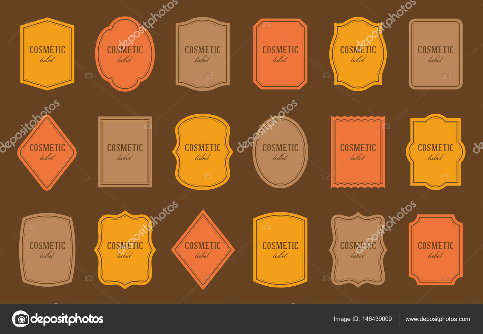 Set of product label templates. Different shapes — Stock Vector ...